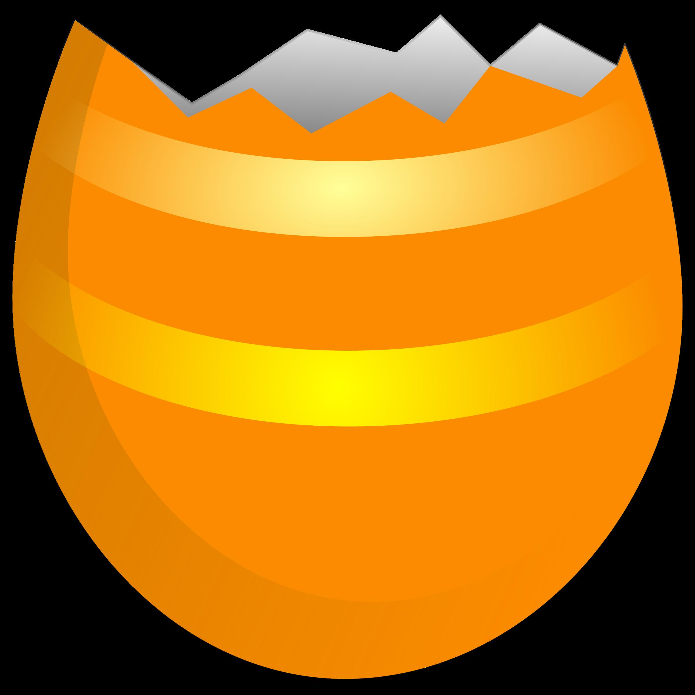 clipart cracked easter egg