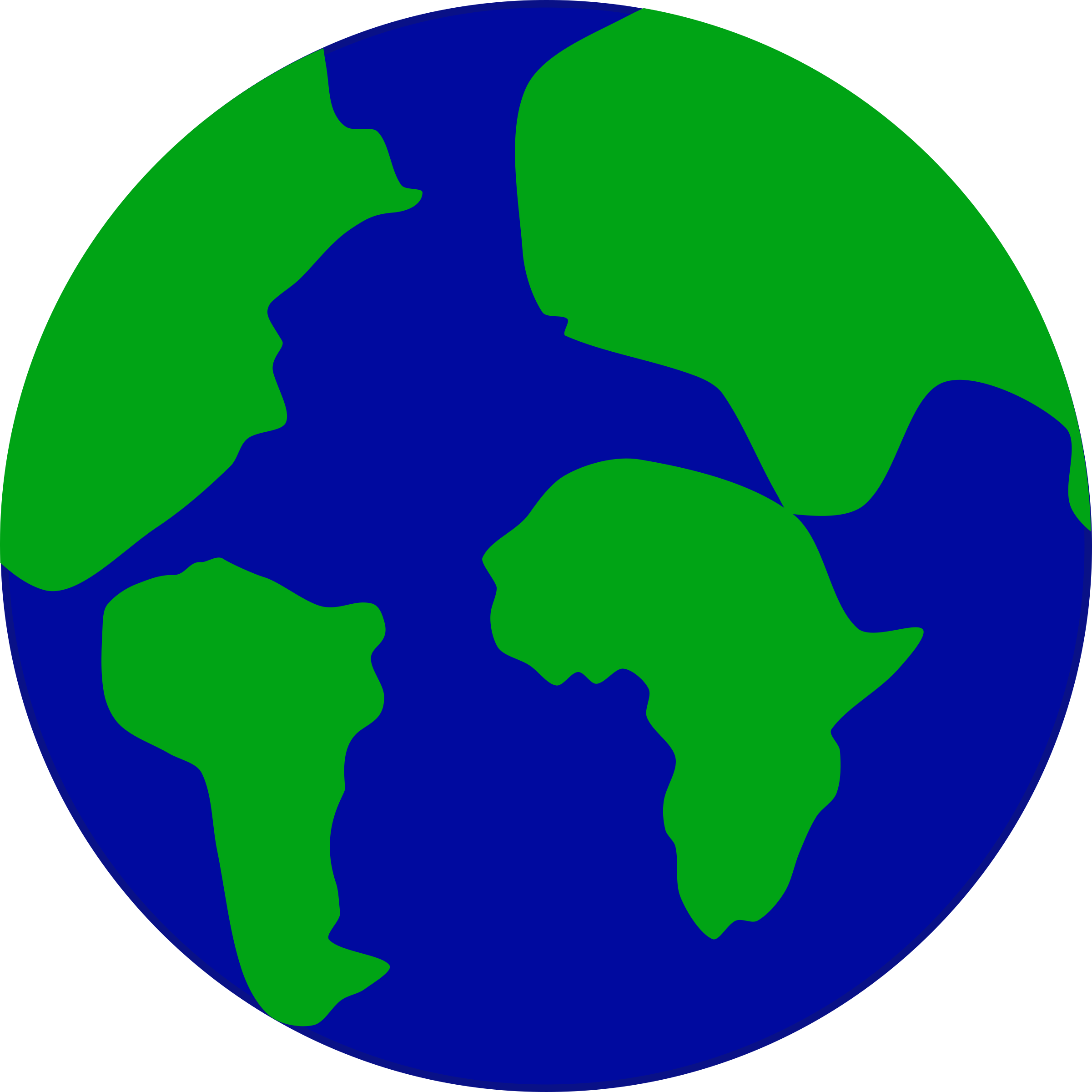 Earth with continents separated by jonadab