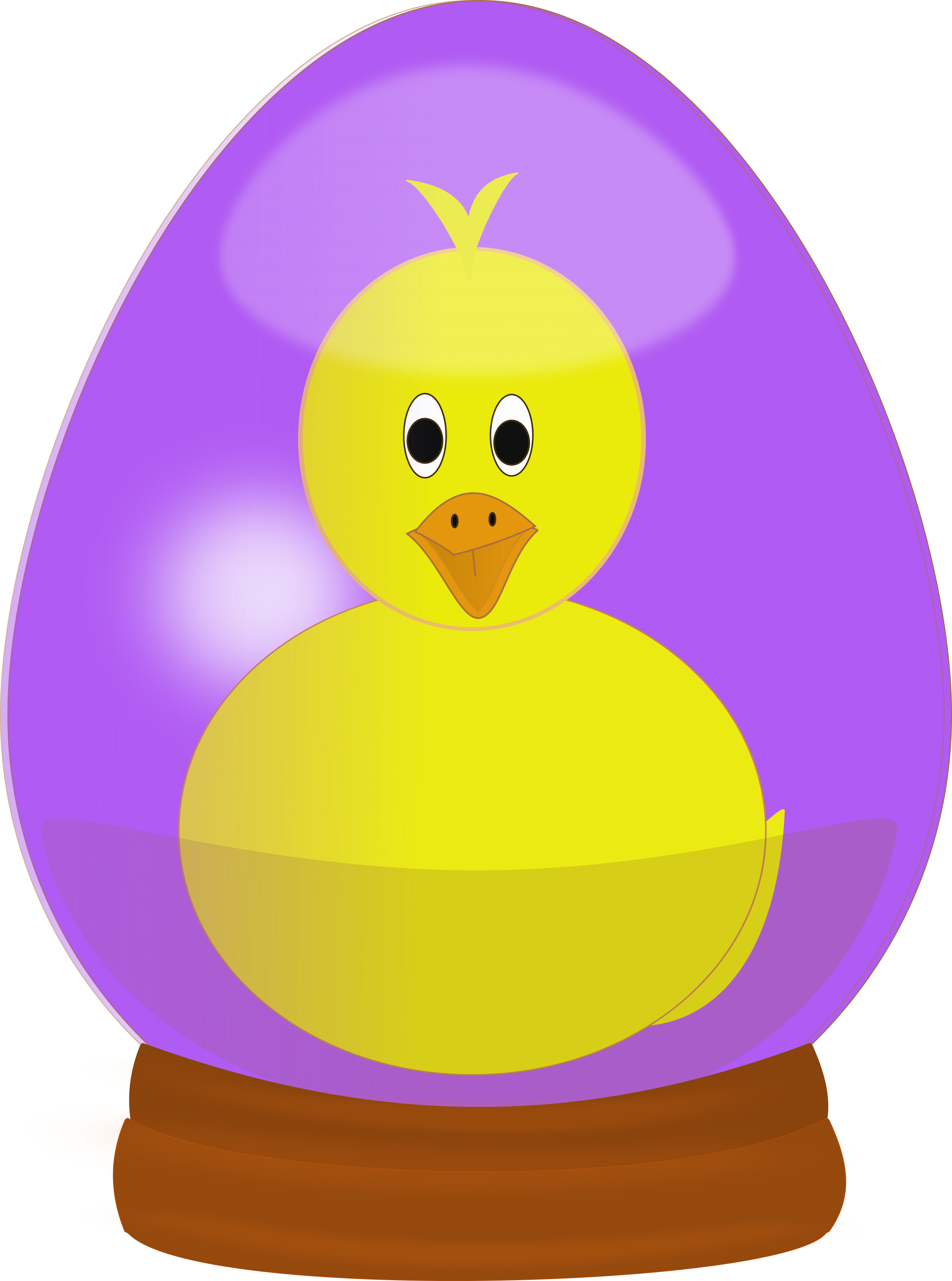 Chick in Easter Egg Globe by laurianne