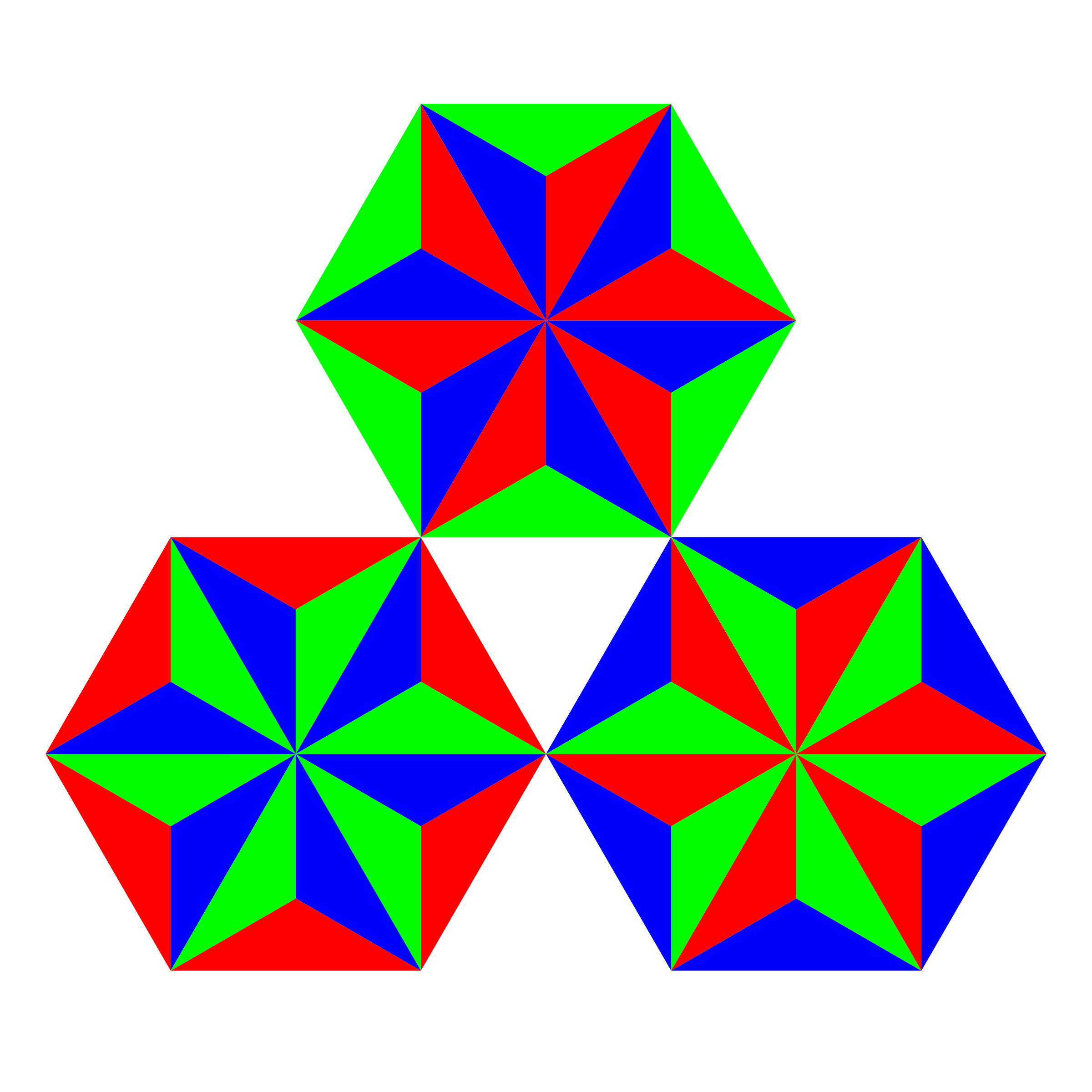 thirds of triangles by 10binary