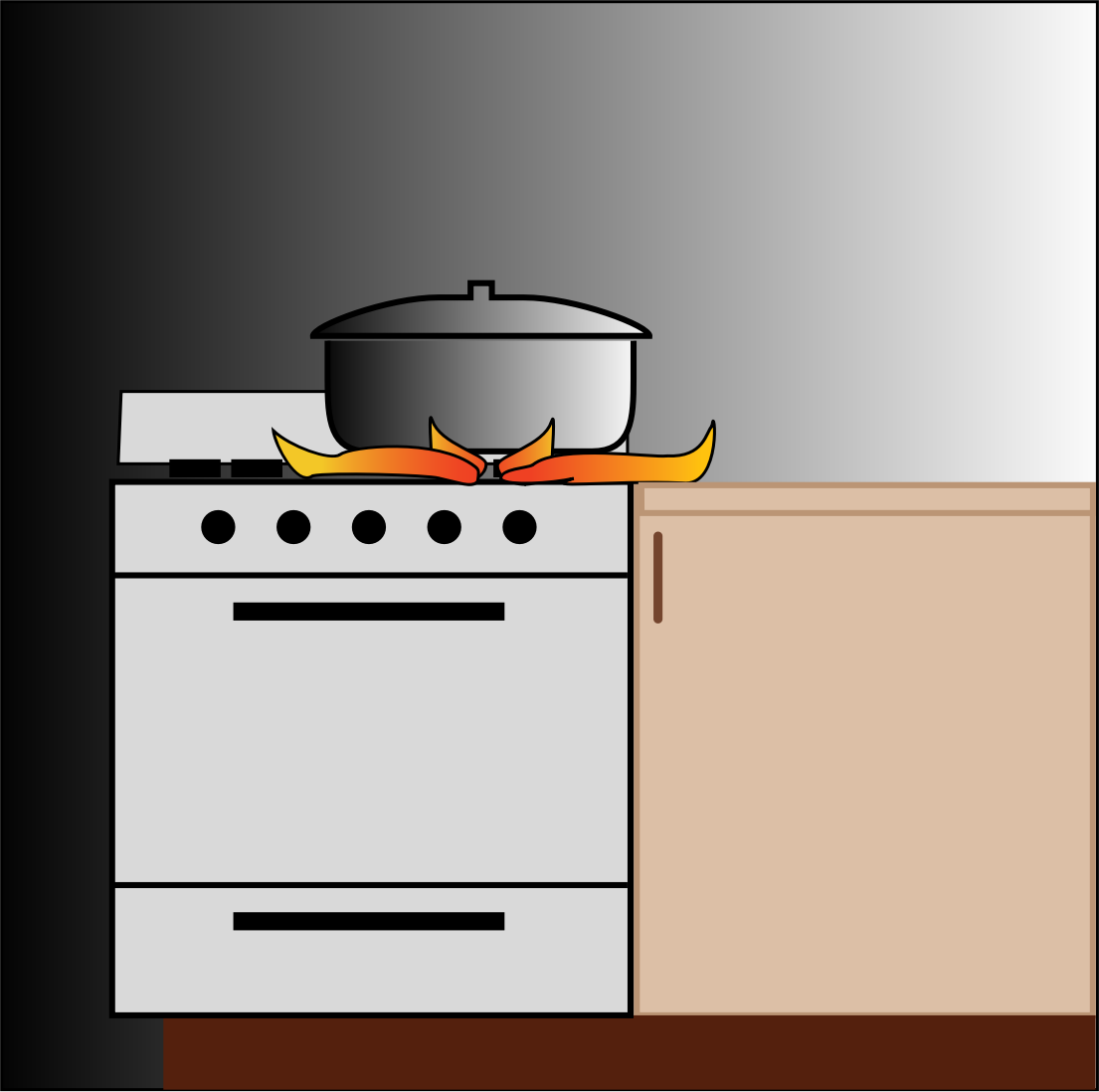 Clipart pot on stove for Art and cuisine pans
