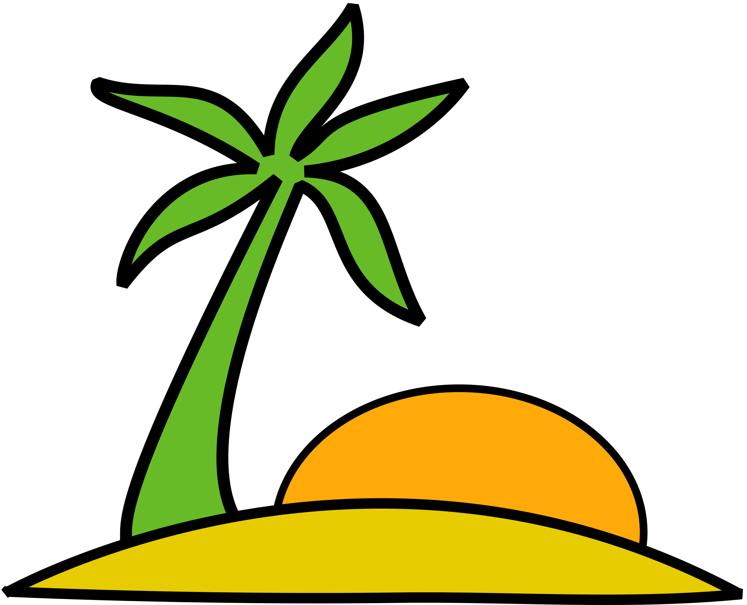 island palm and the sun by Anonymous