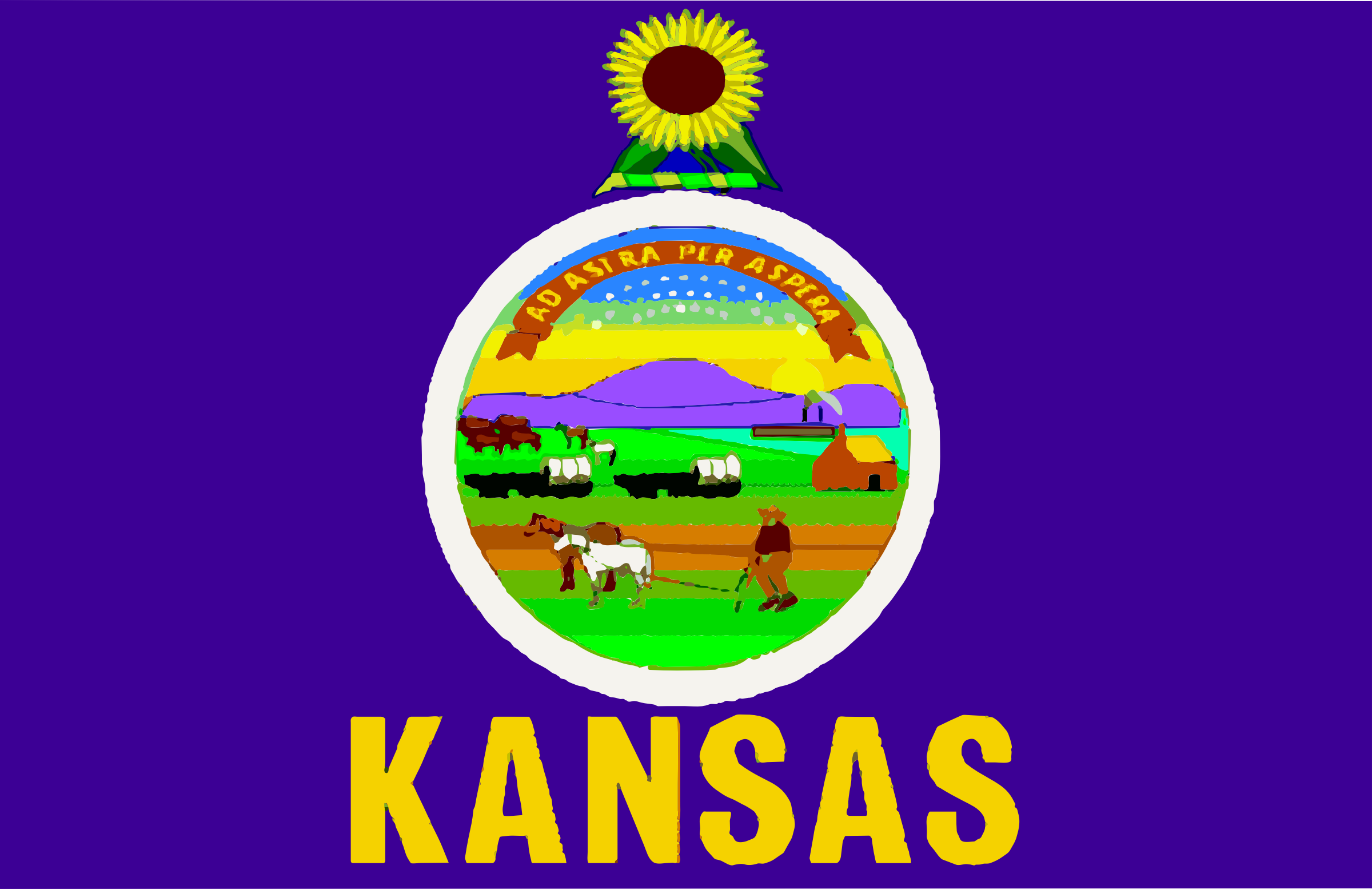 Flag of Kansas by Anonymous