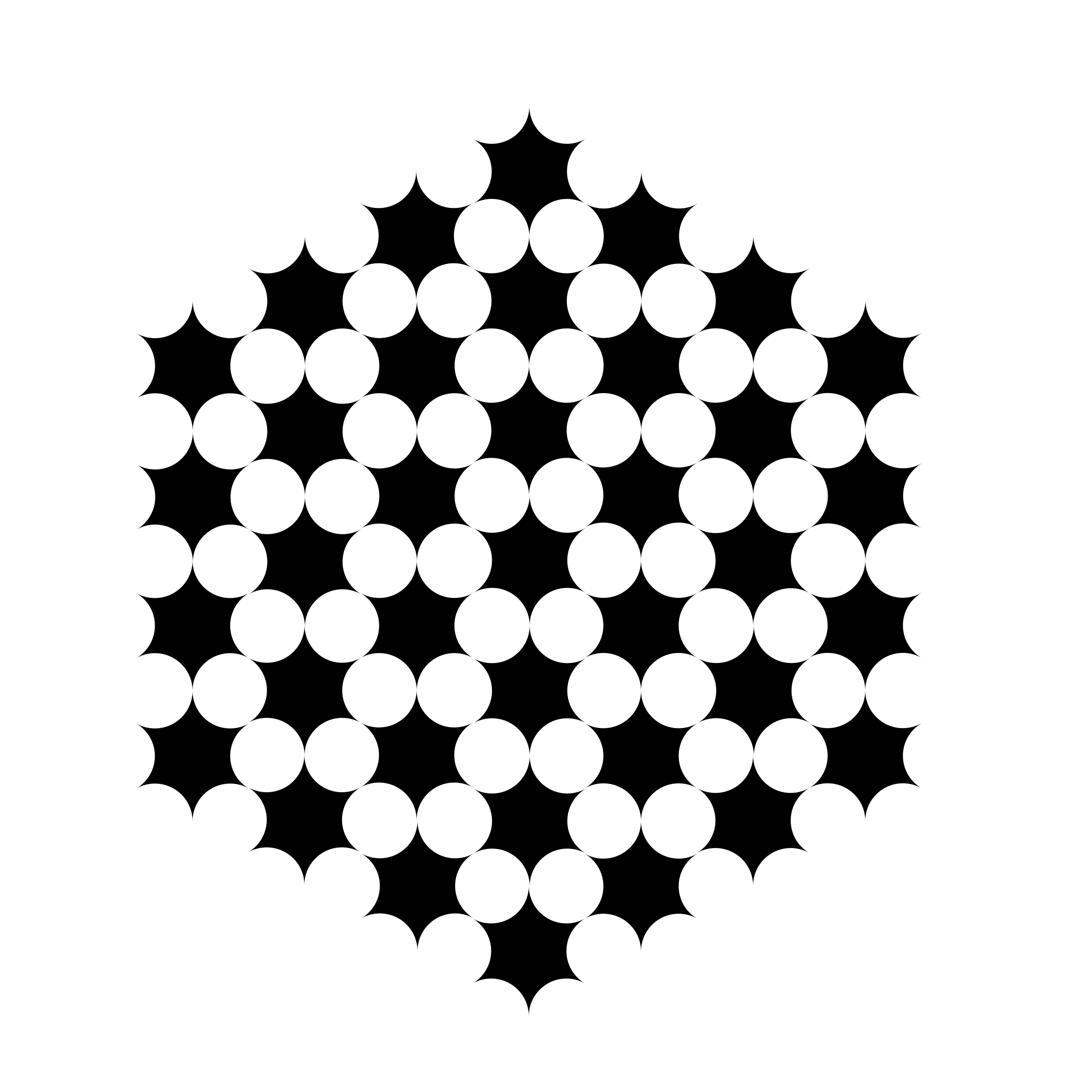 round hexagons circles by 10binary