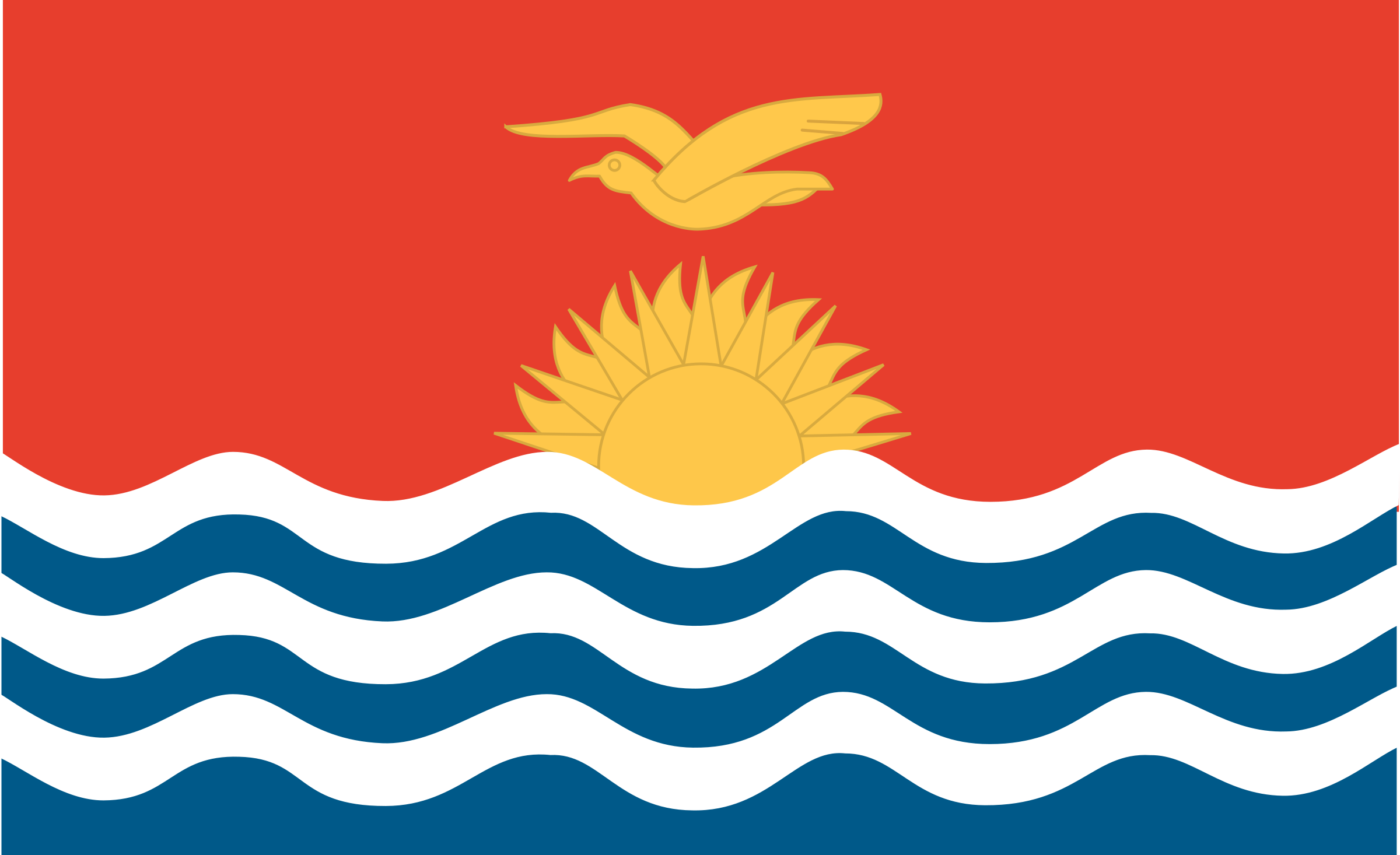 Flag of Kiribati by Anonymous