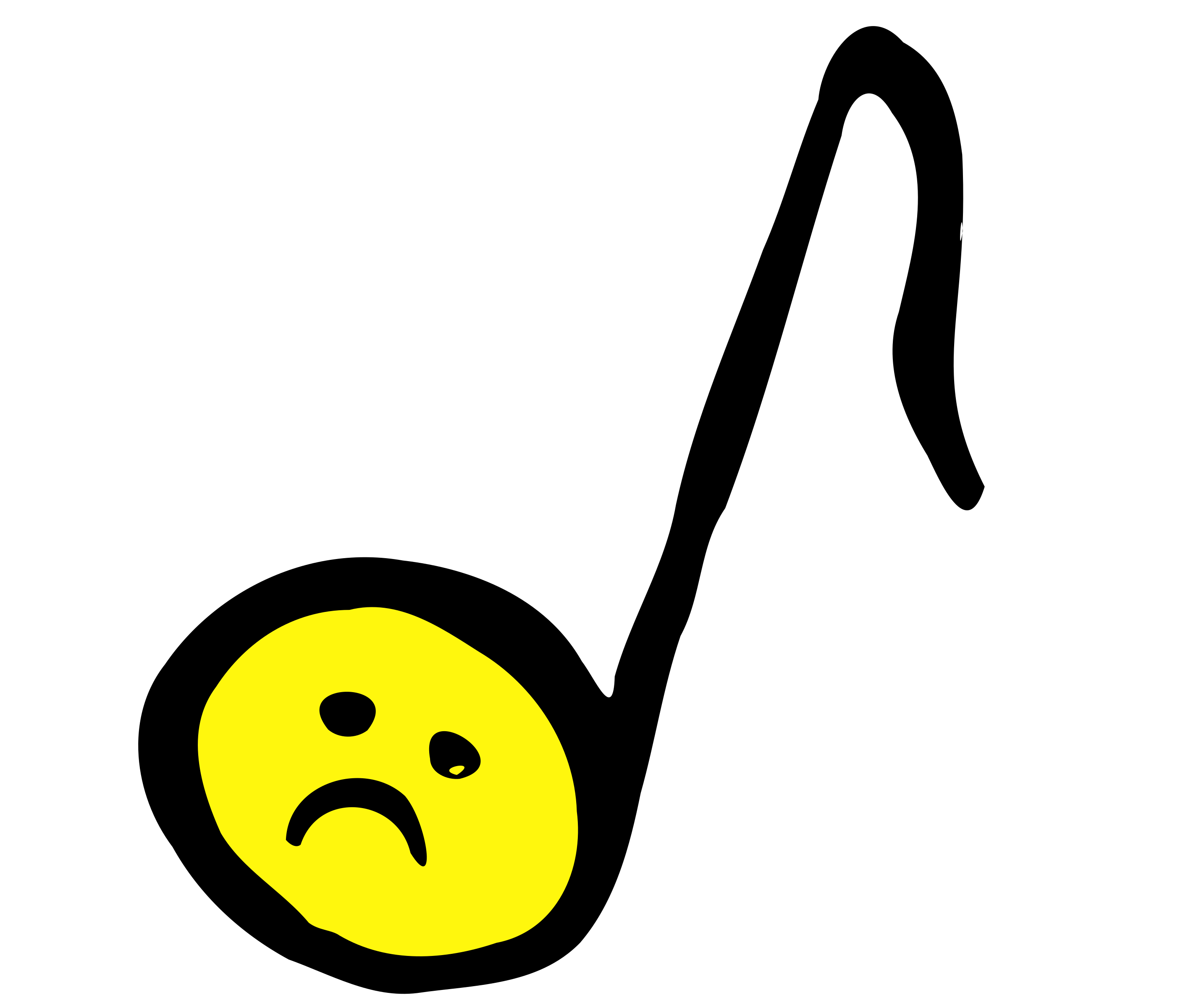 Clipart - Unhappy Eighth Note