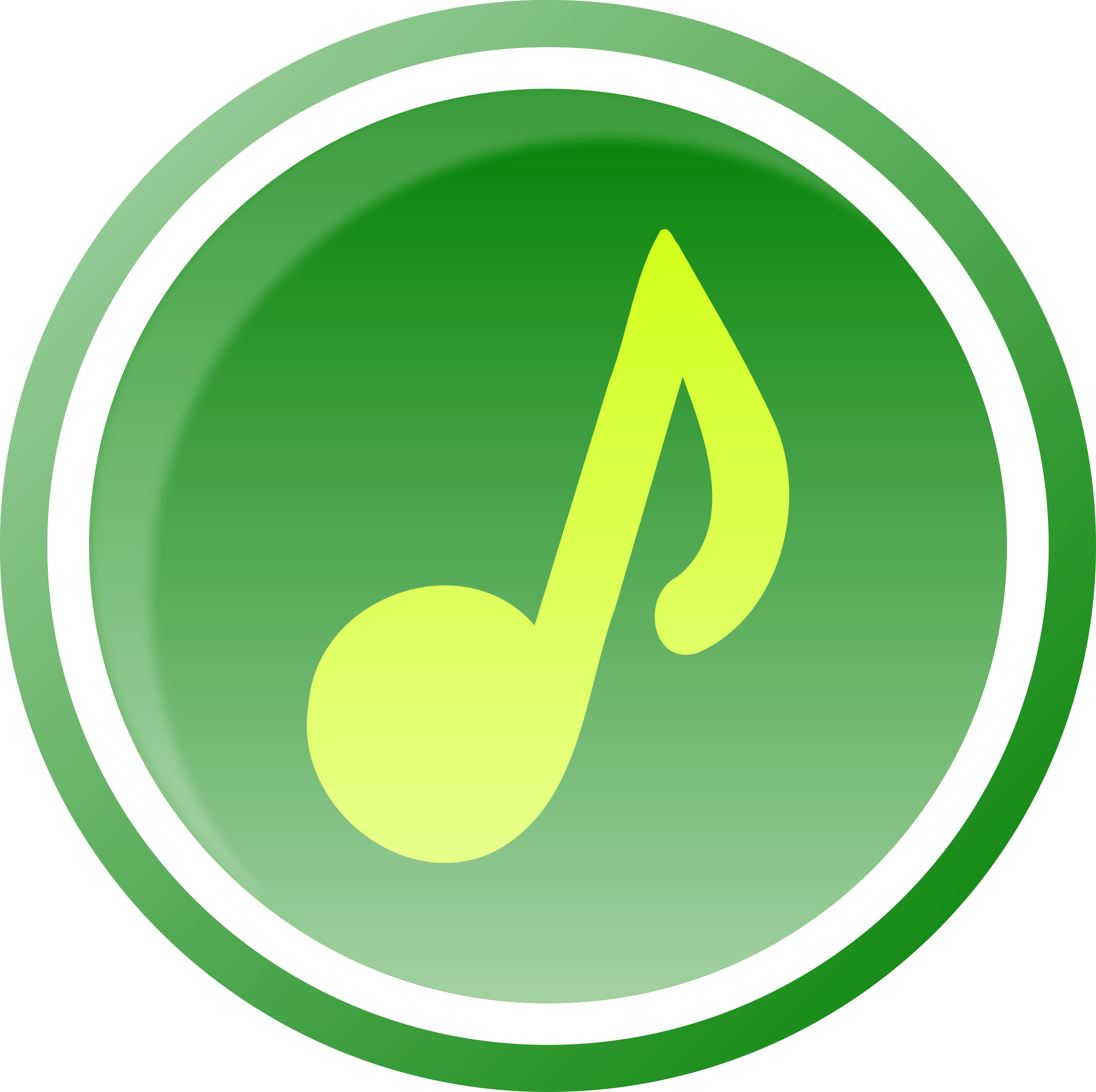 Clipart Music Icon Green 1