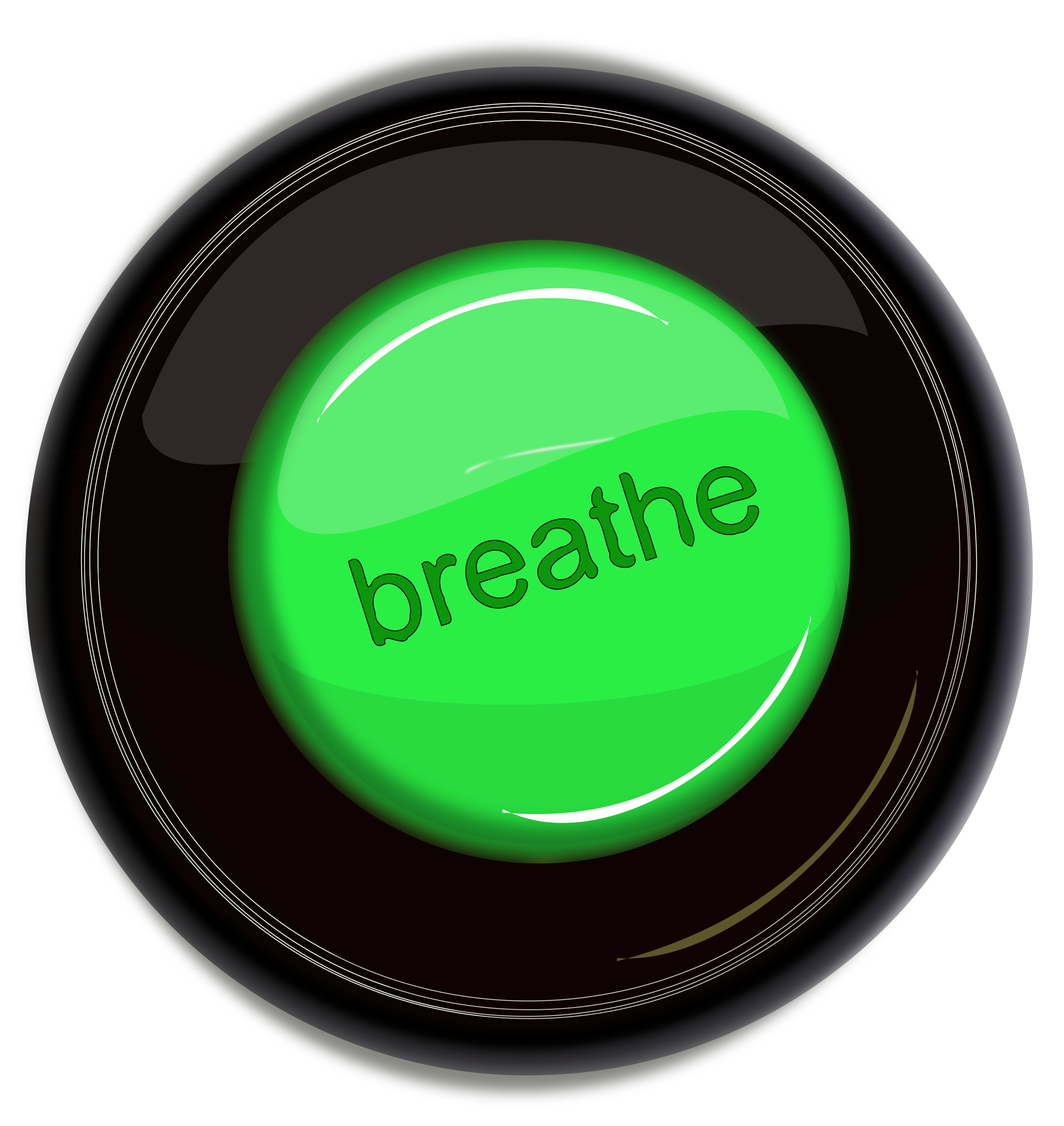 breathe icon button by laurianne