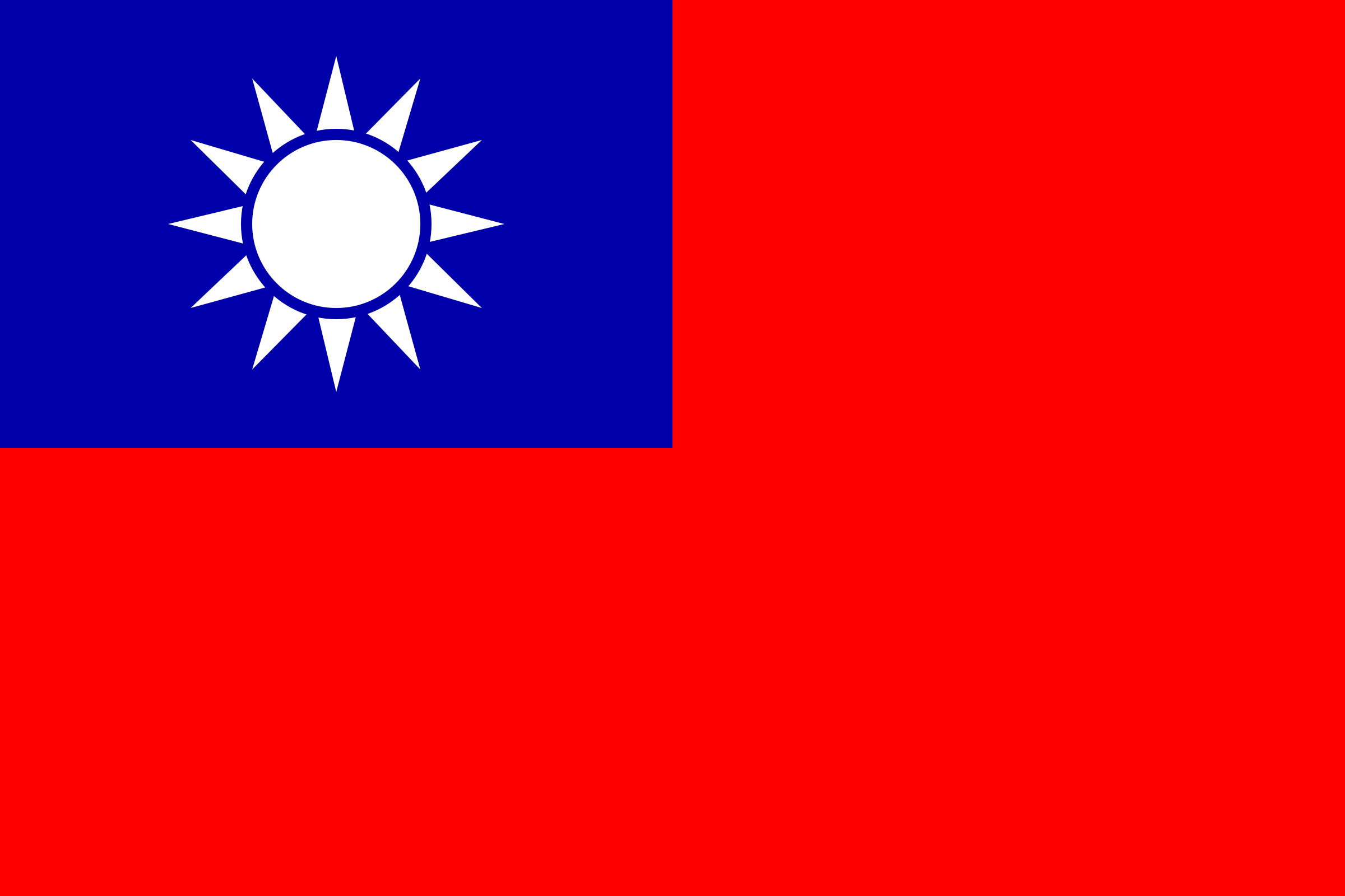 Flag of the Republic of China by Anonymous