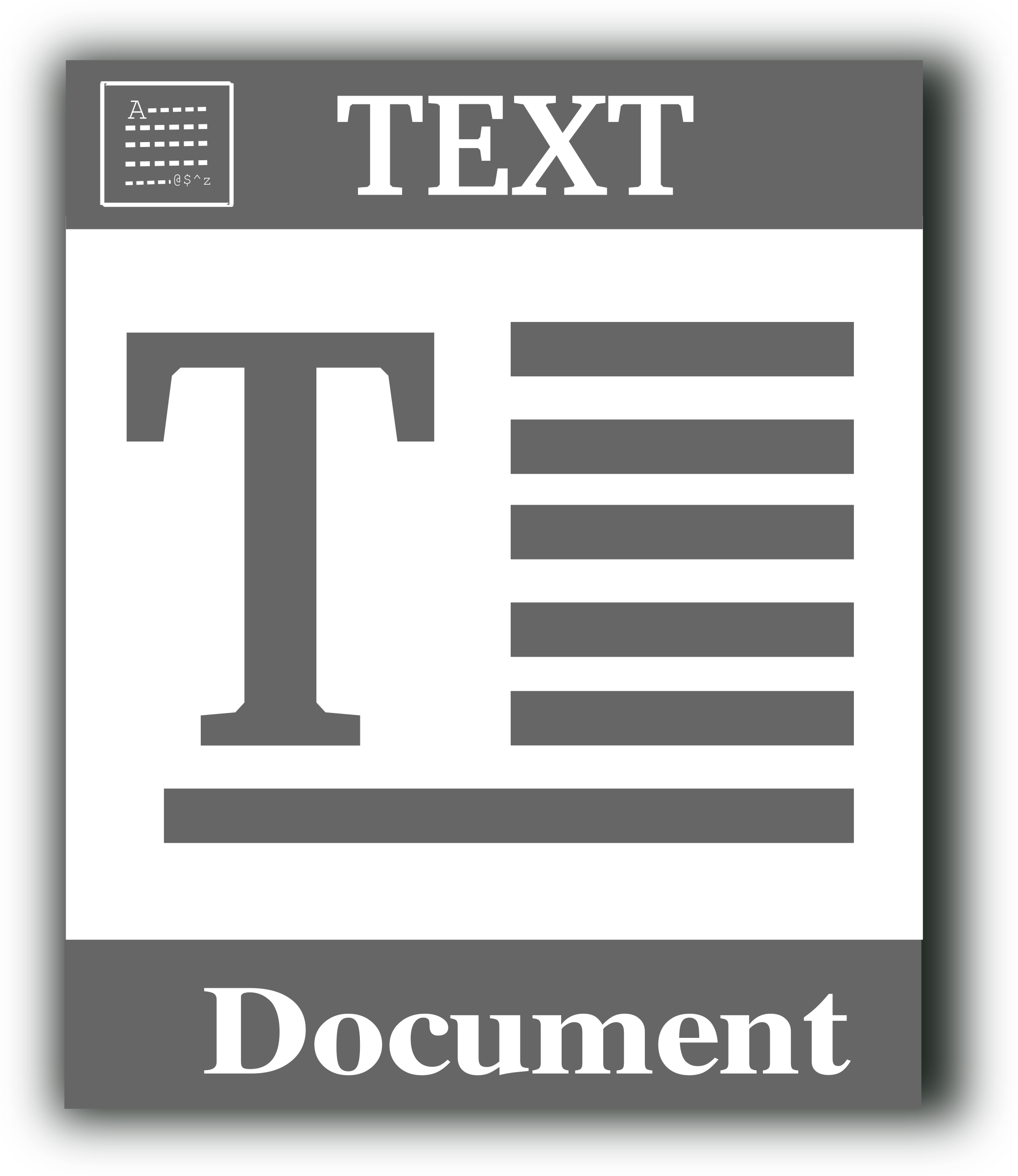 Text file icon by gsagri04