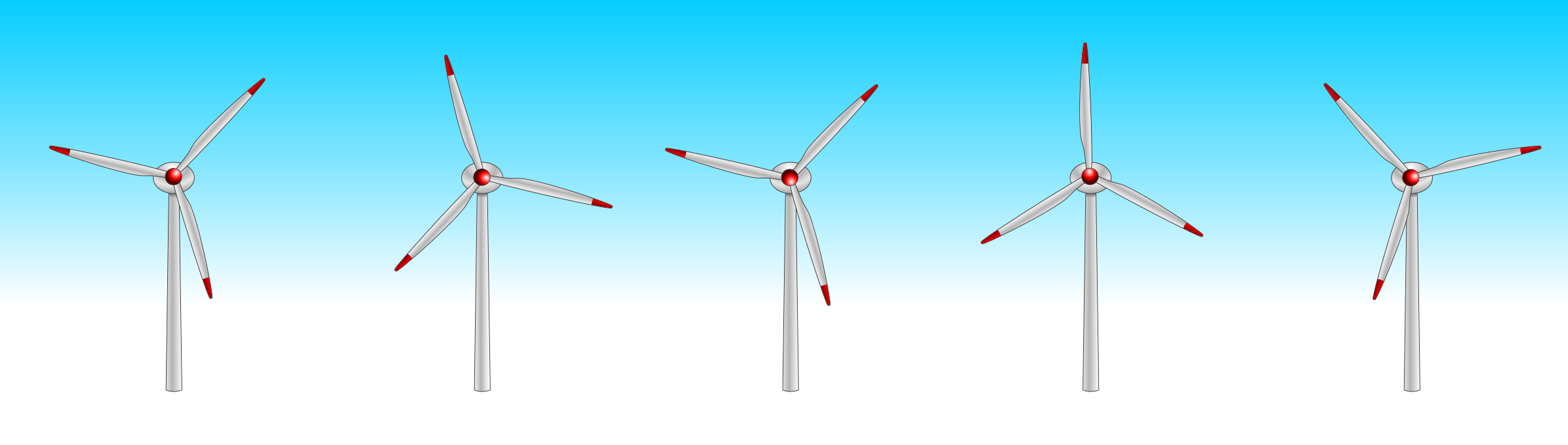 5 wind turbines by Chrisdesign