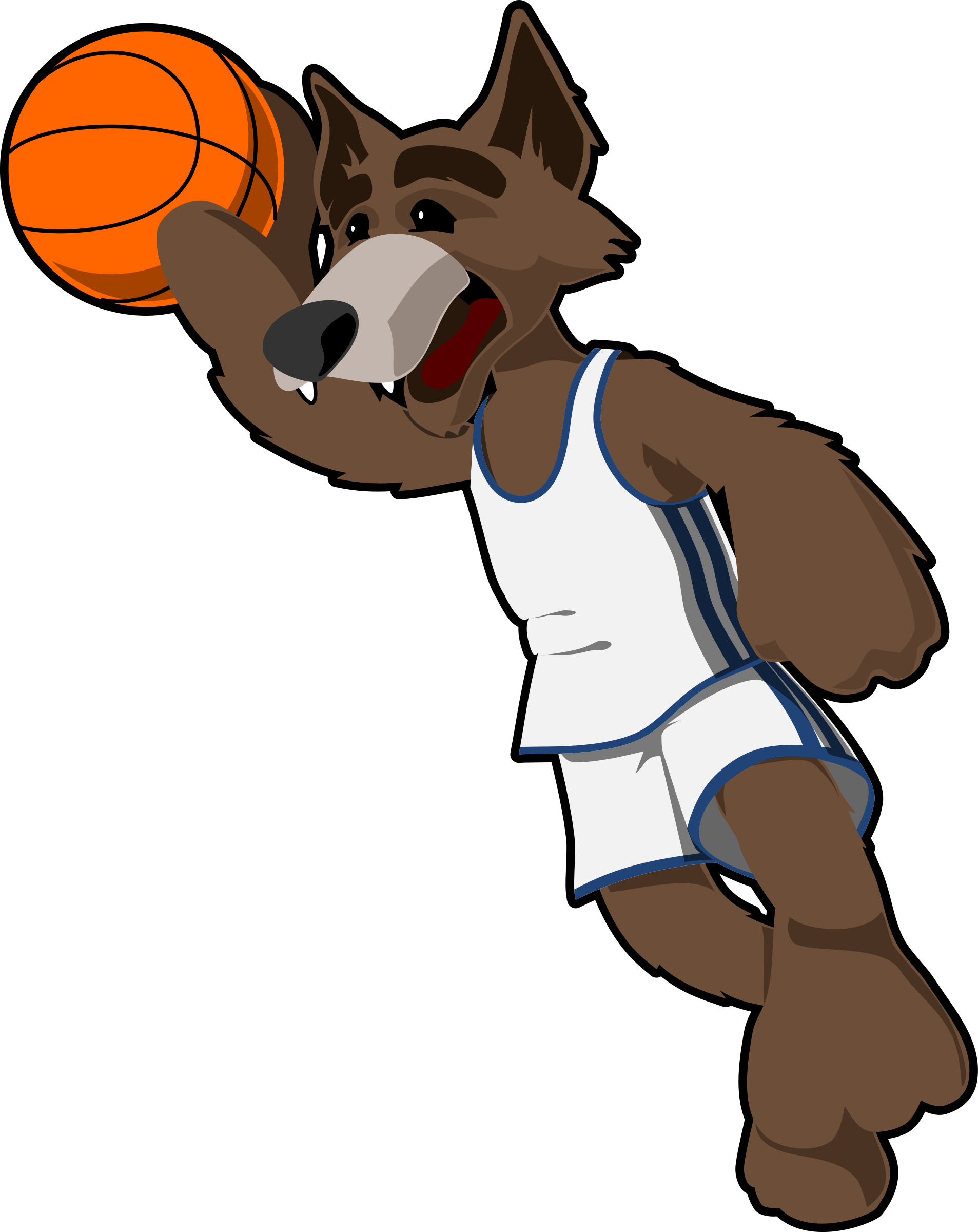 basketball wolf by tzunghaor