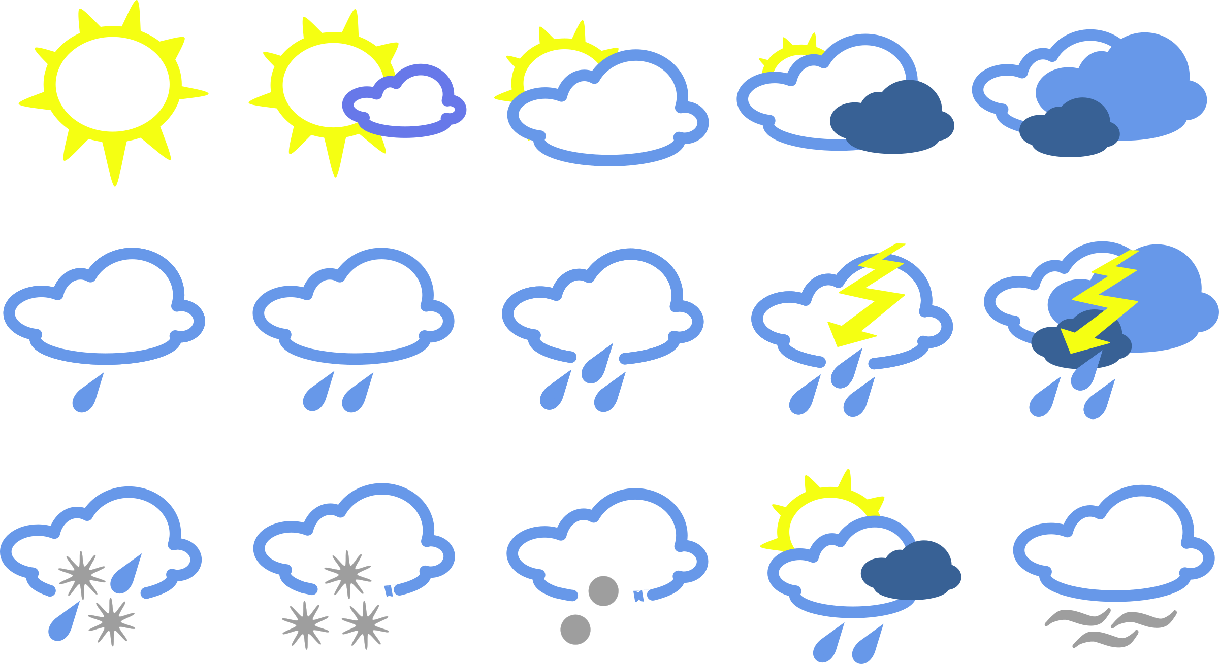 Clipart Simple Weather Symbols