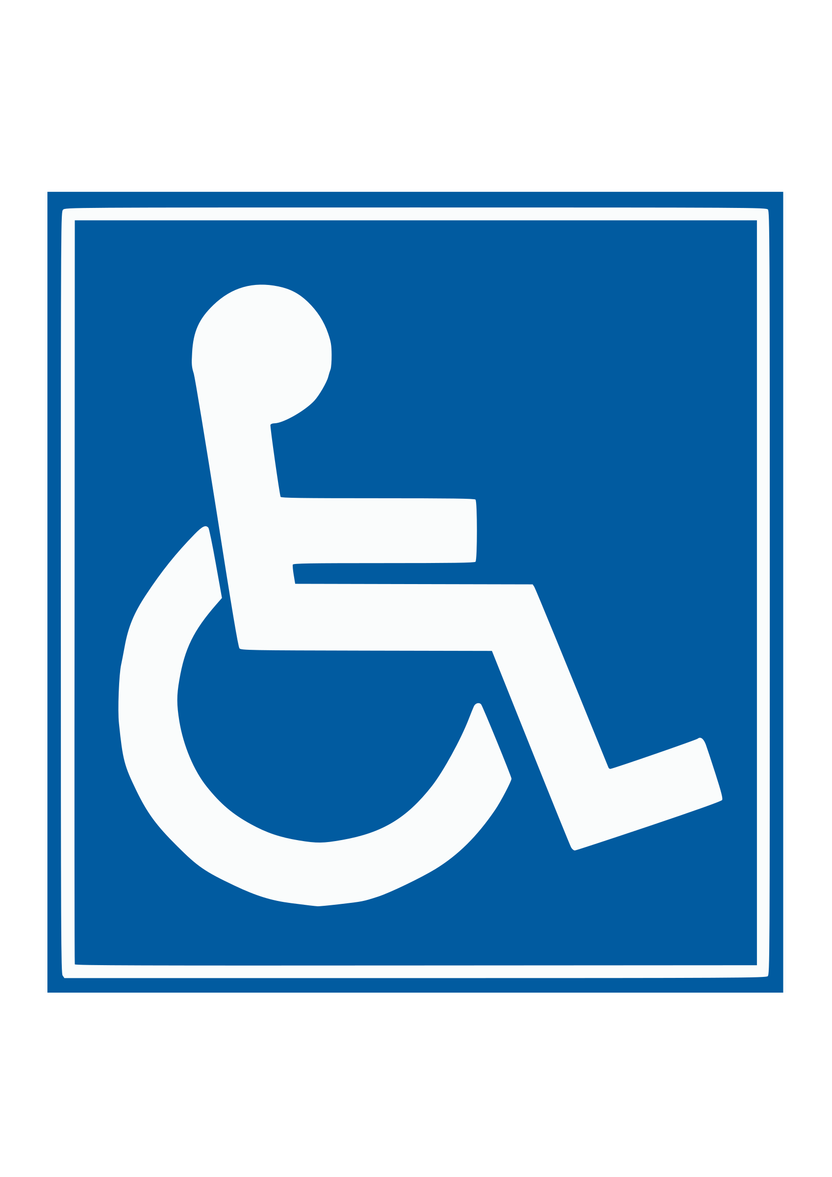 Handicap sign by Wice