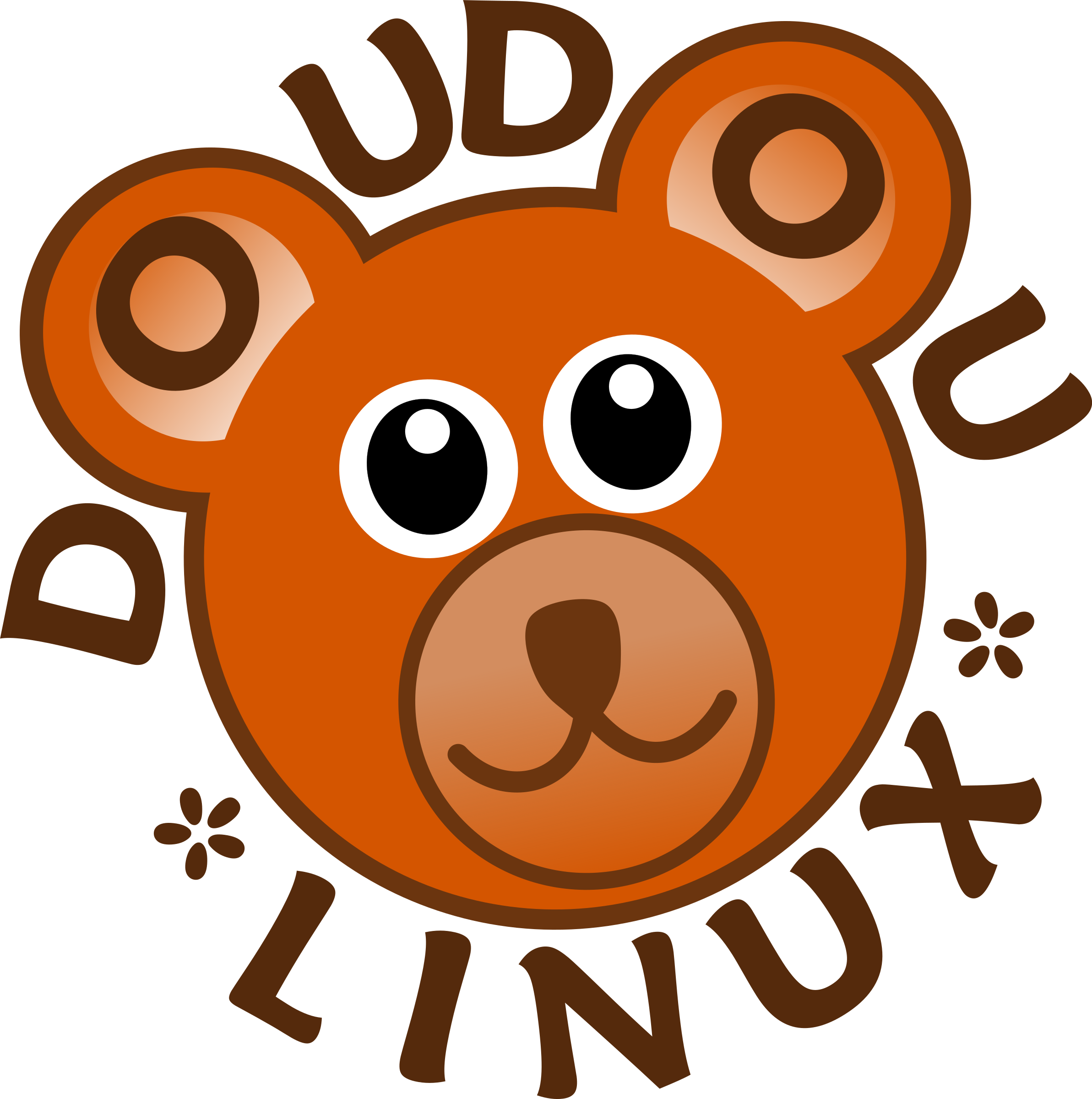 DoudouLinux Logo - Operating System fun and accessible for kids from 2 to 12 years old by palomaironique