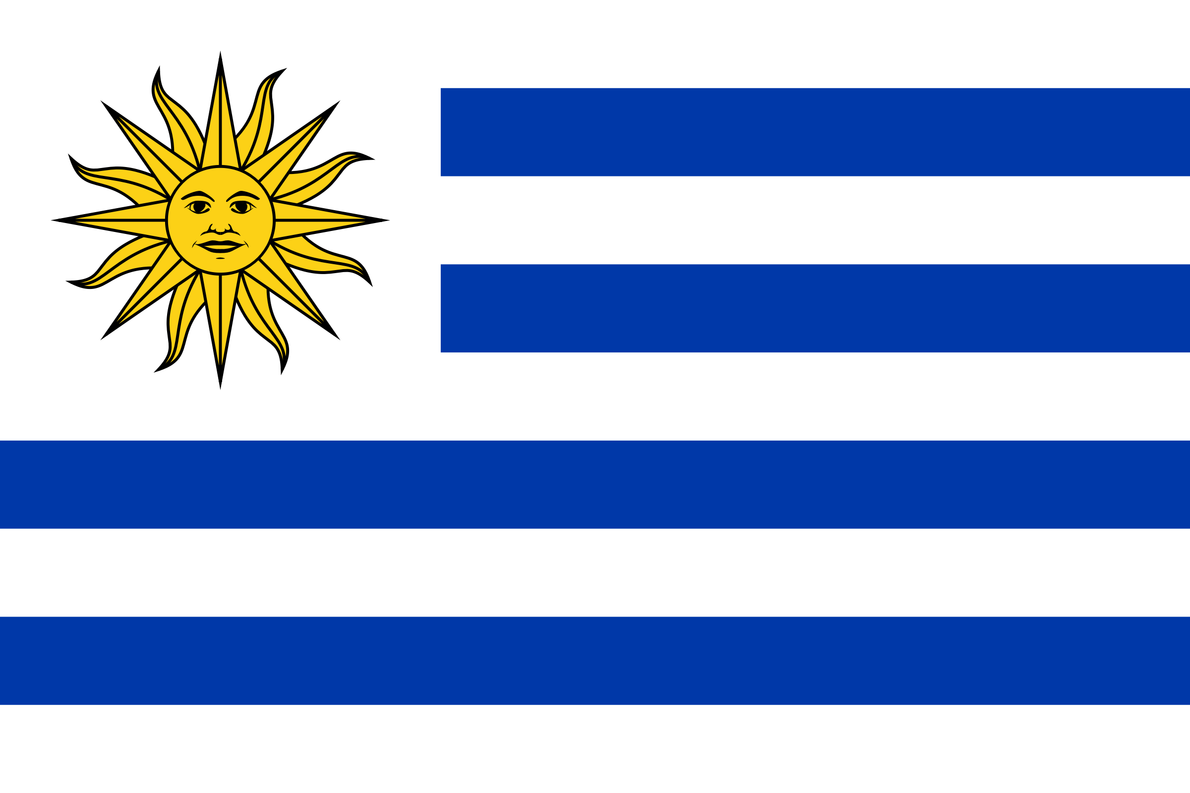 Flag of Uruguay 1 by Anonymous