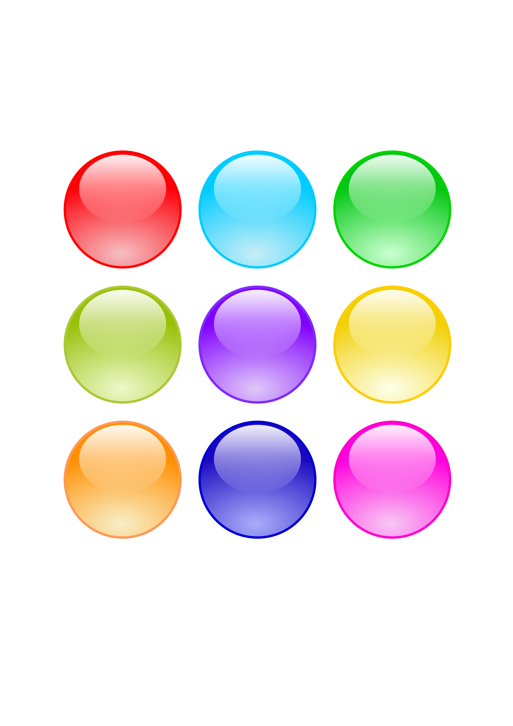 Glossy Circle Buttons by pauliuw