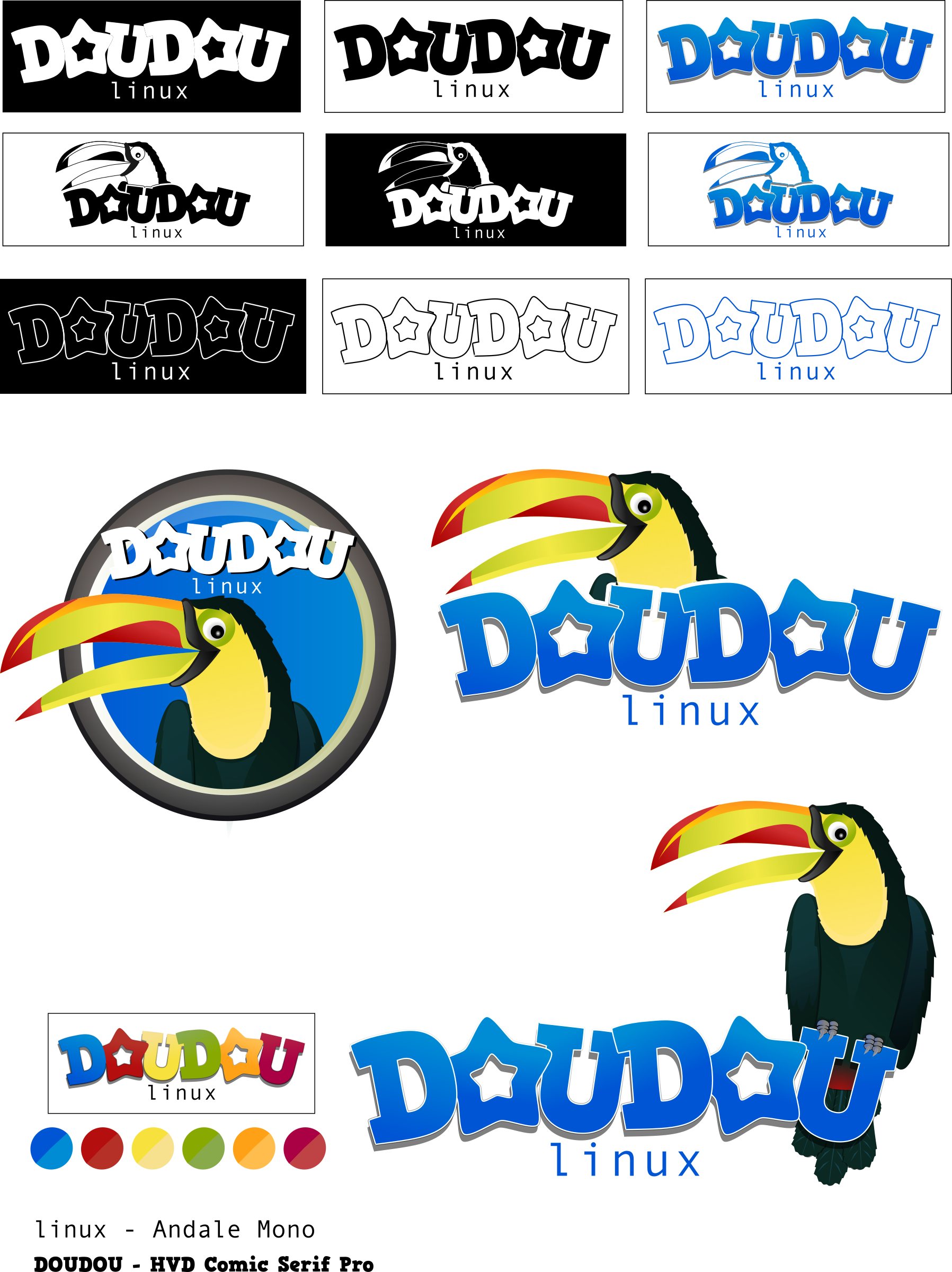 DouDou linux - Mascot and Logo Contest by gnokii