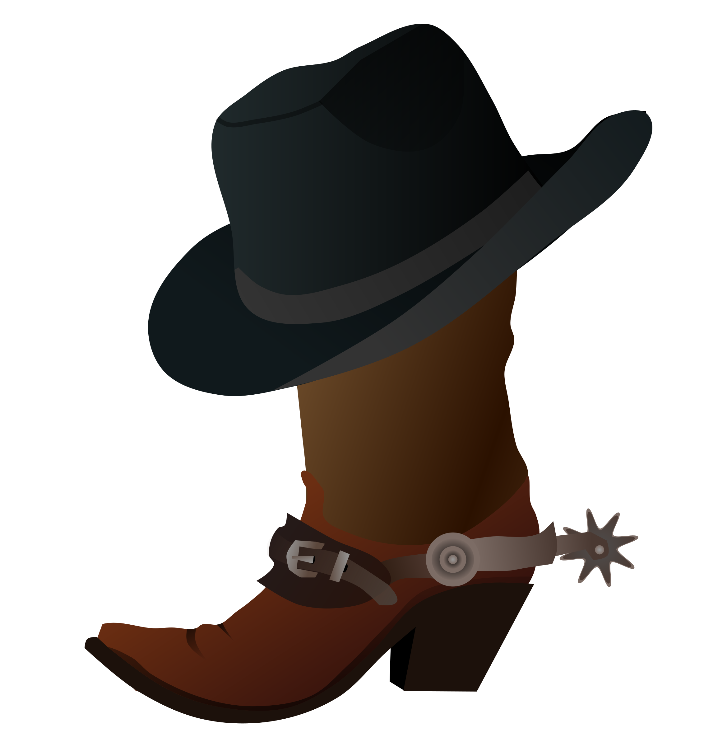 Cowboy Boot and Hat by gnokii