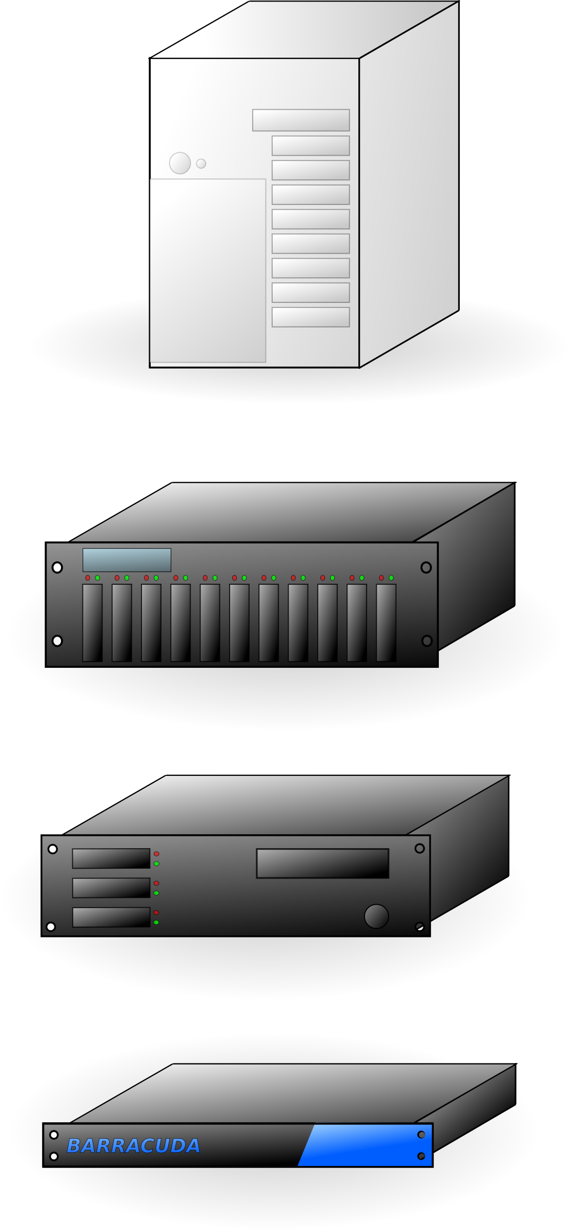 various servers by Anonymous