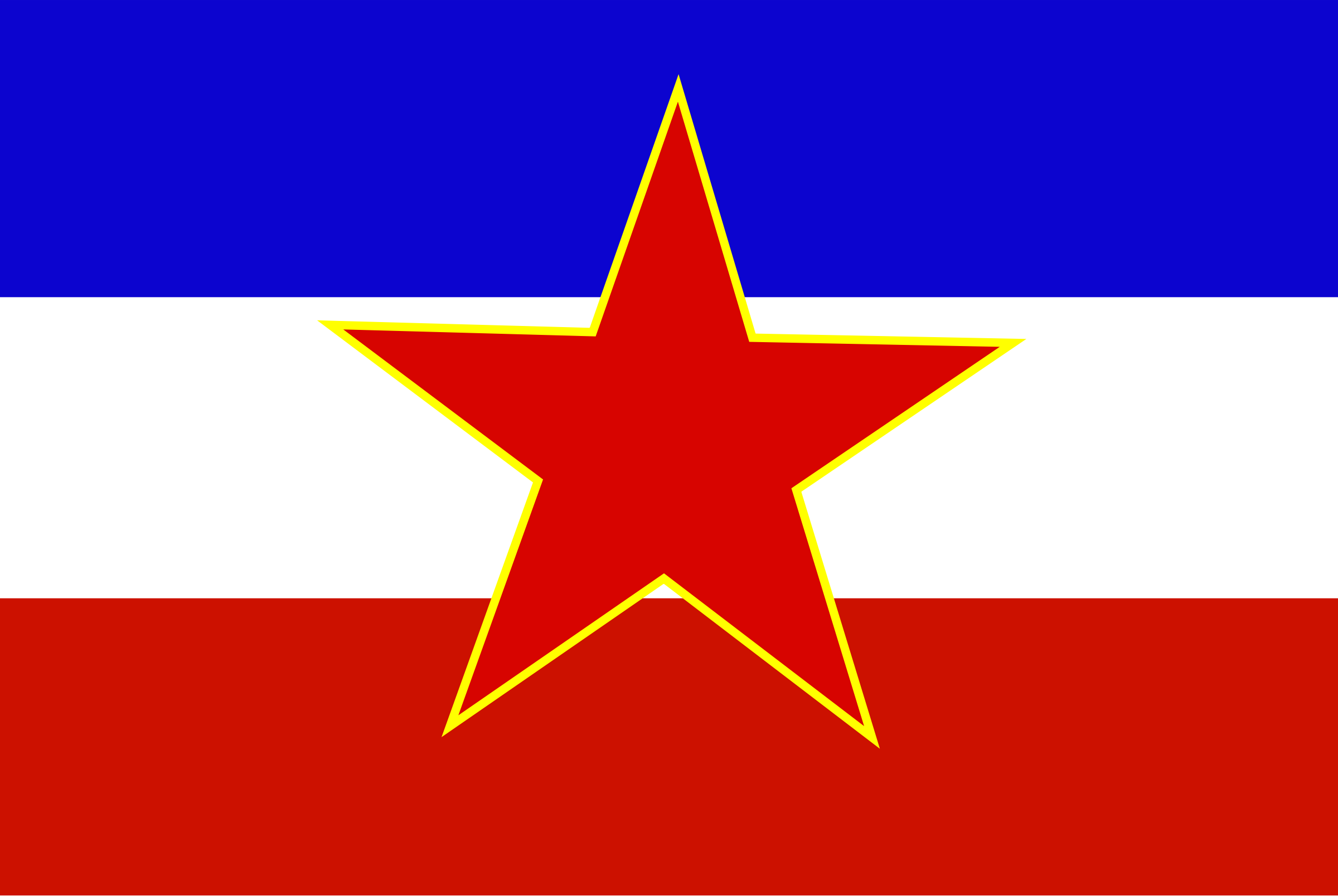 Flag of Yugoslavia - historic by Anonymous