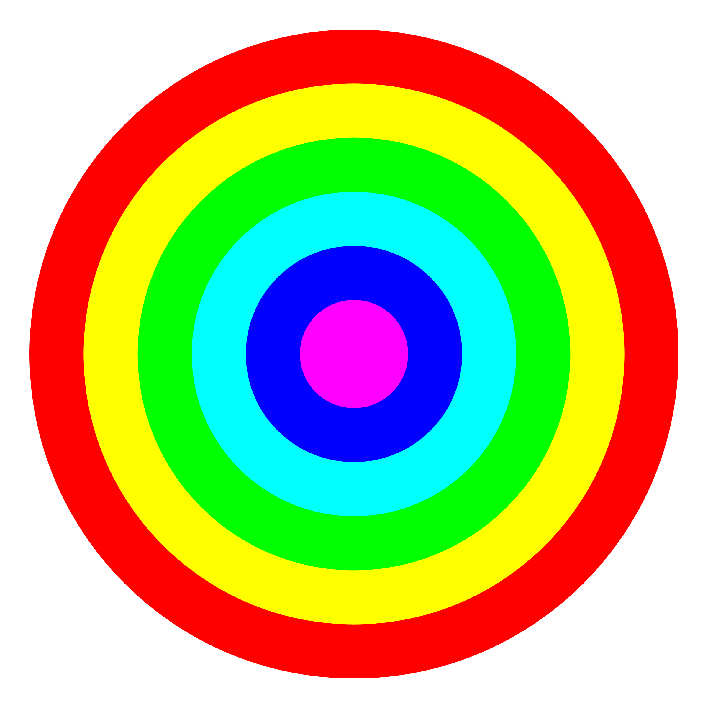 Rainbow Circle Png Rainbow Circle Target 6 Color