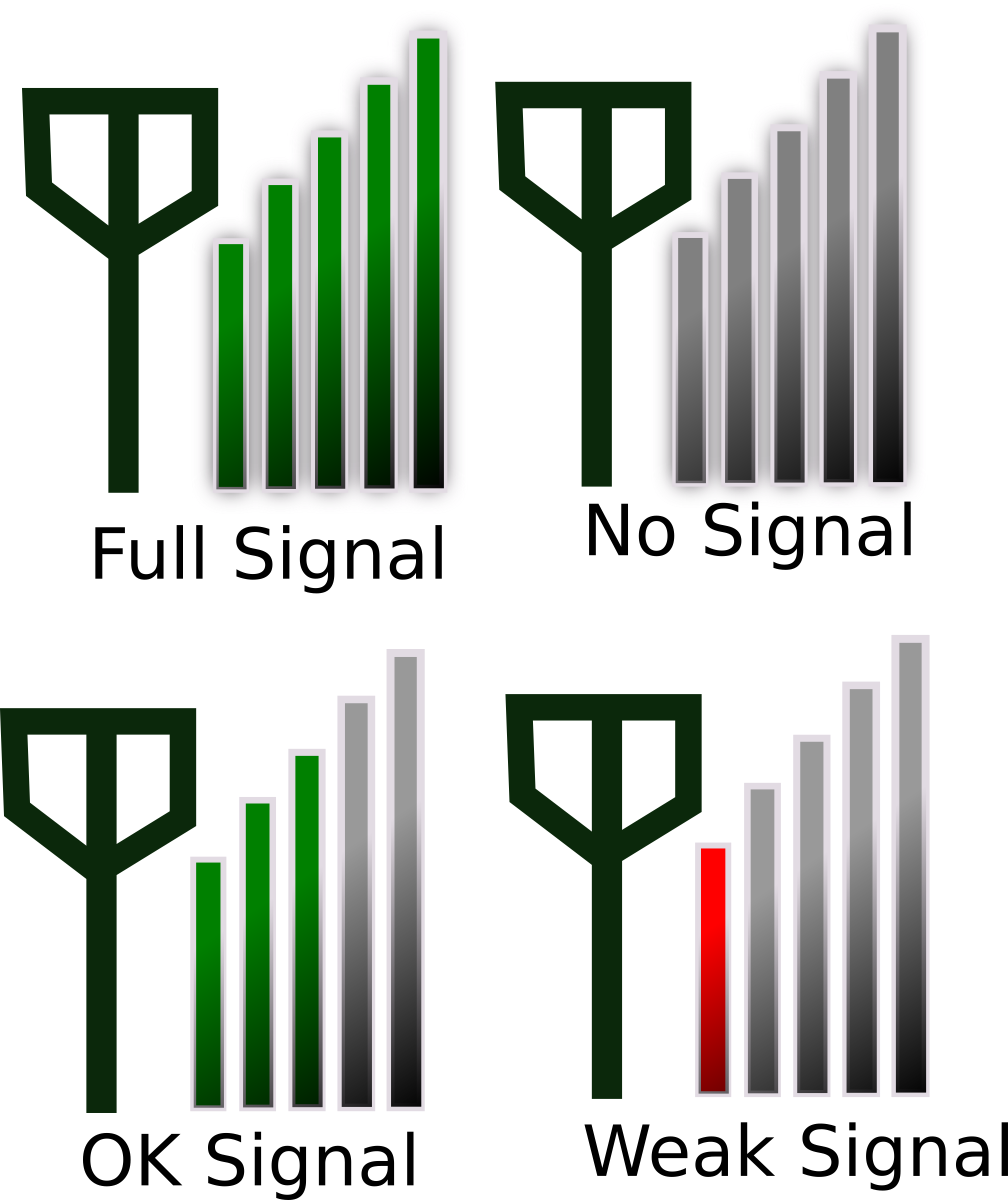 clipart signal strength icon for phone