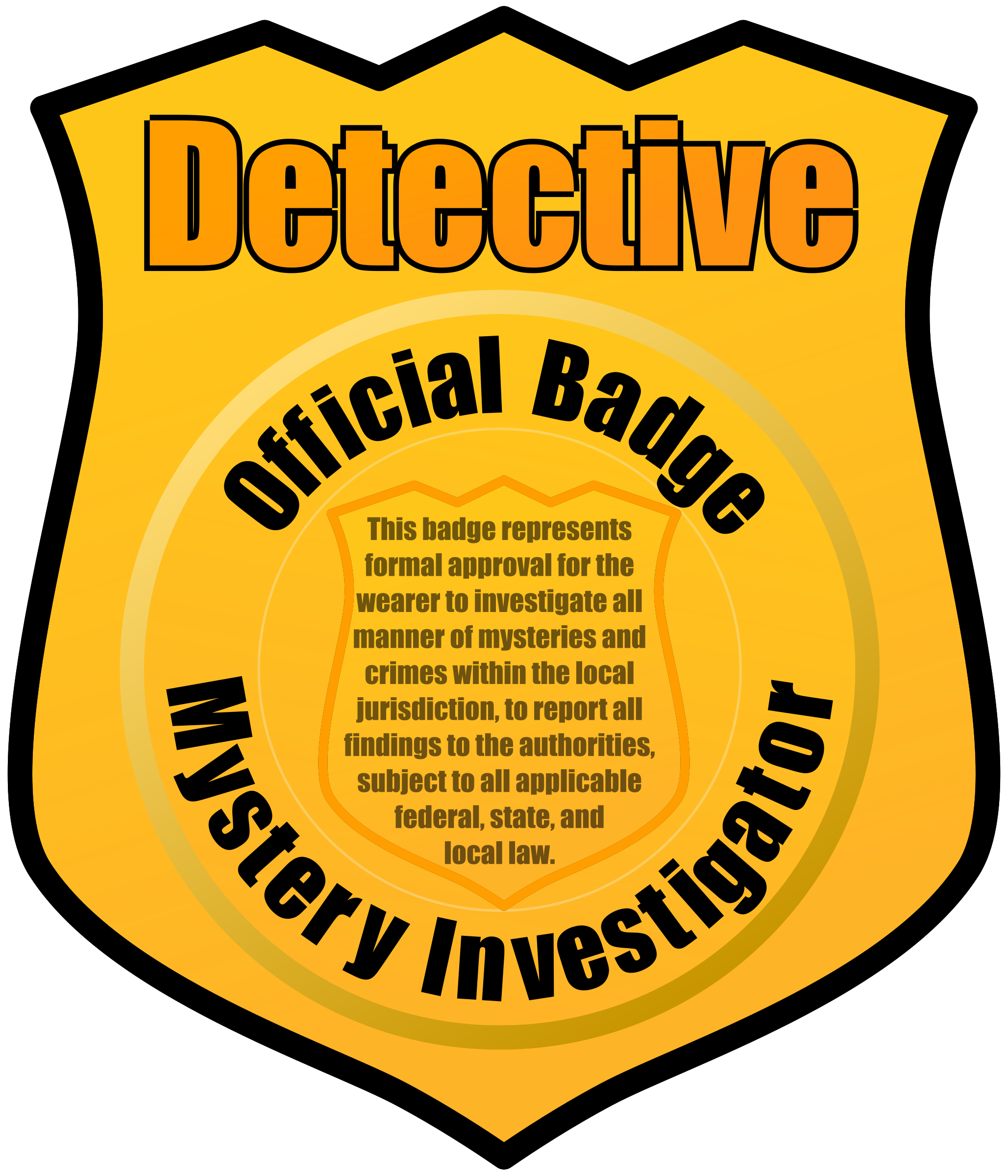 Detective Badge by eady
