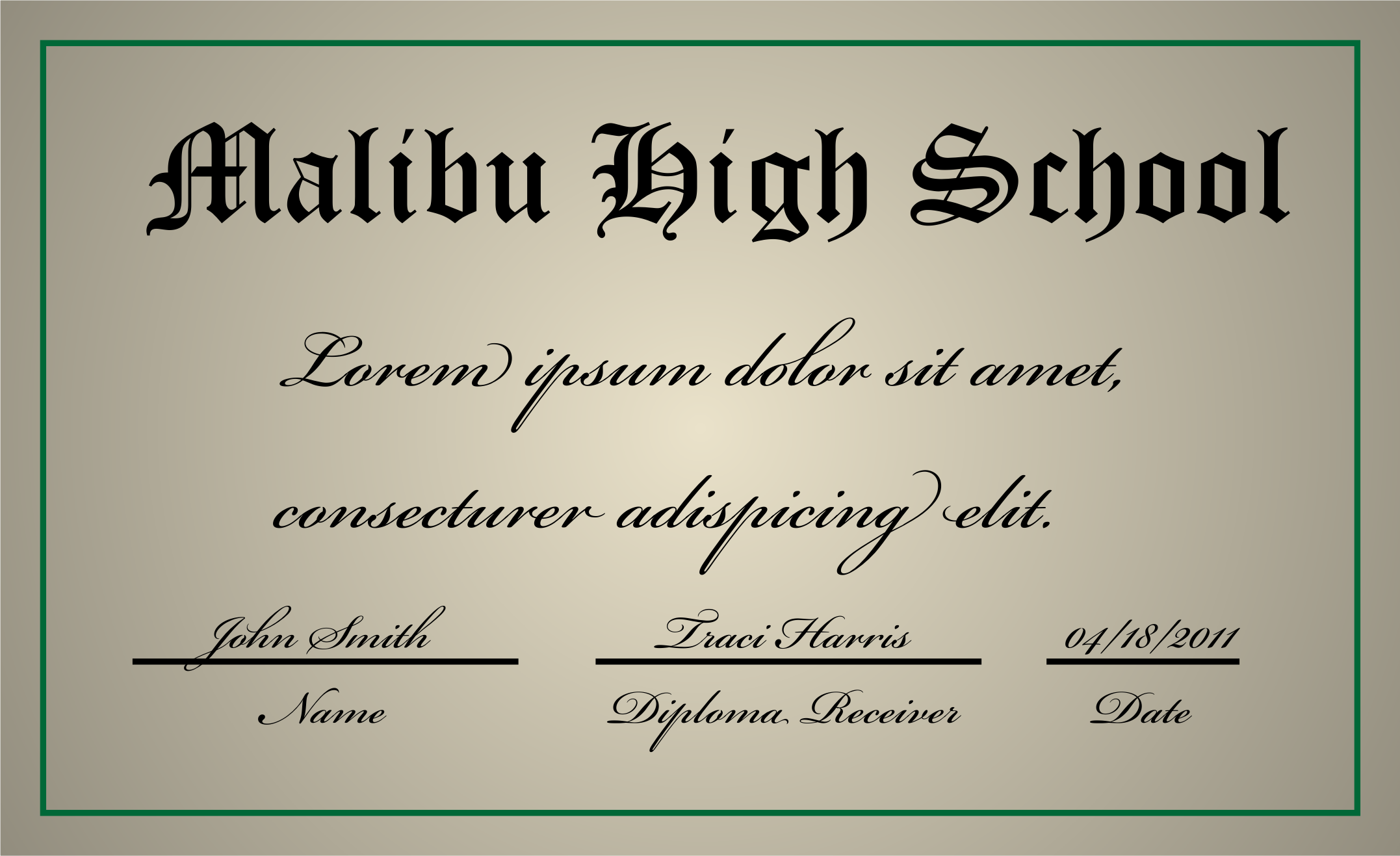 A high school diploma by jhnri4
