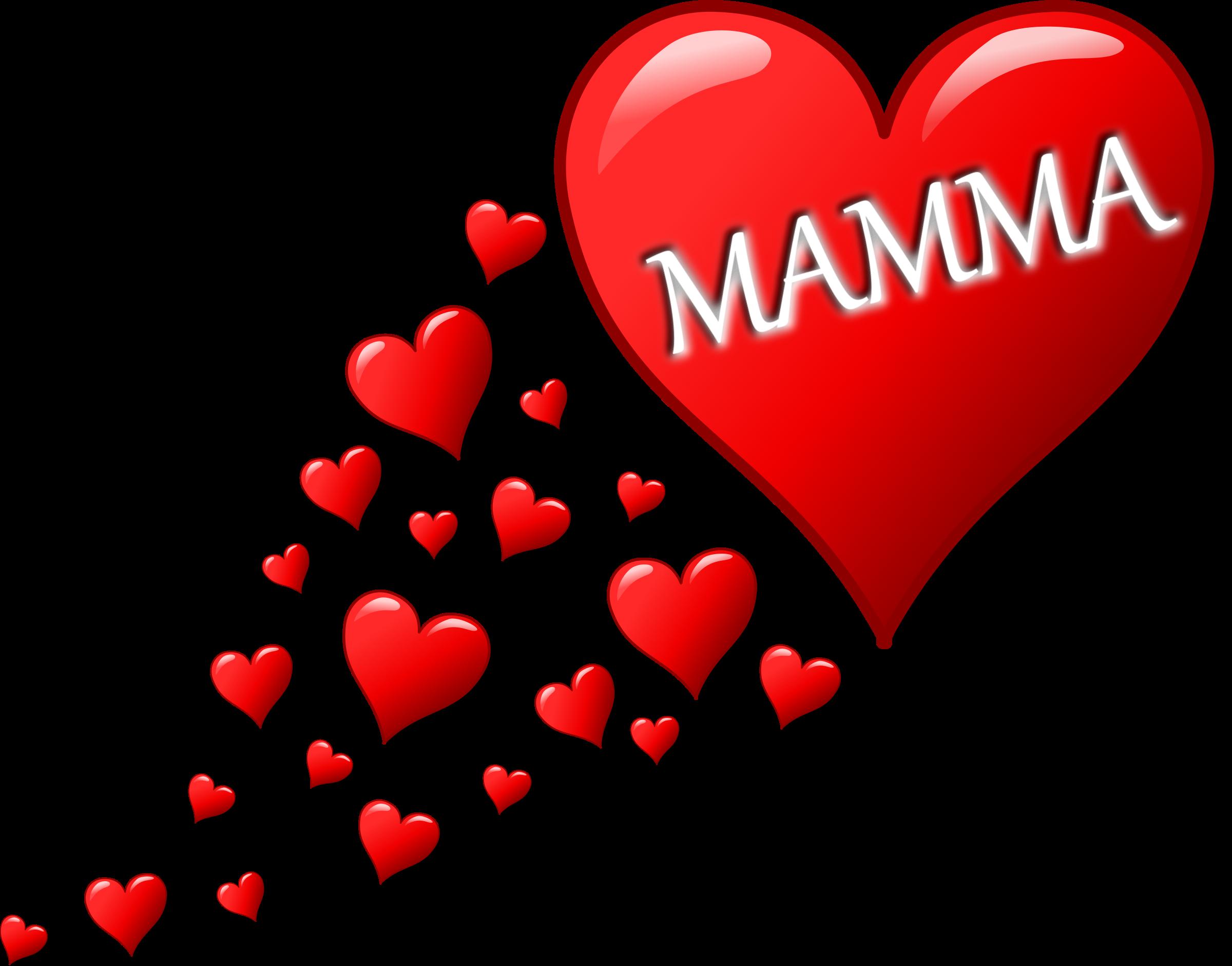 Clipart cuore per la festa della mamma con una scia di for Clipart cuore