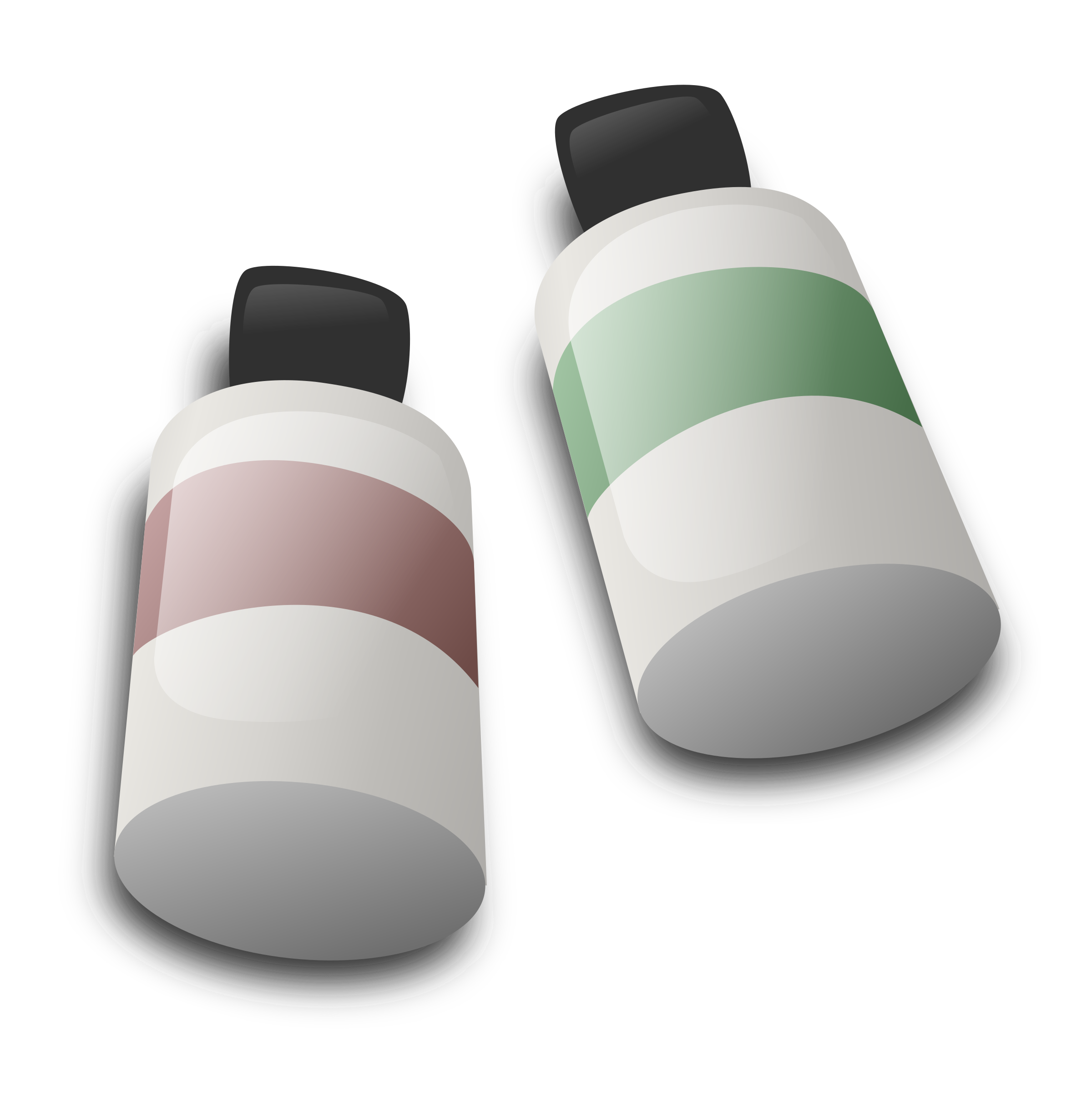 Bottles of dye ink by sarxos