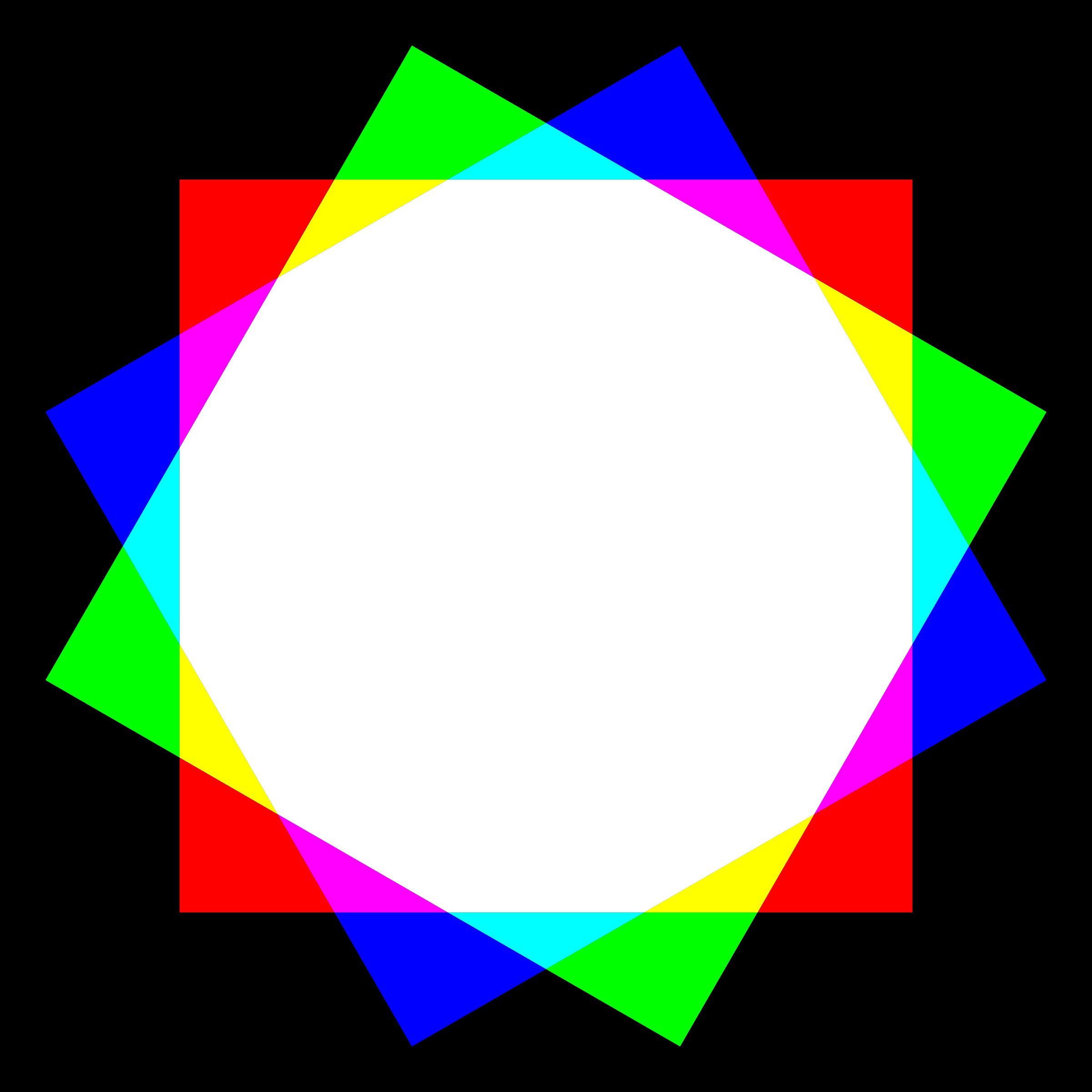 dodecagon color mixing by 10binary