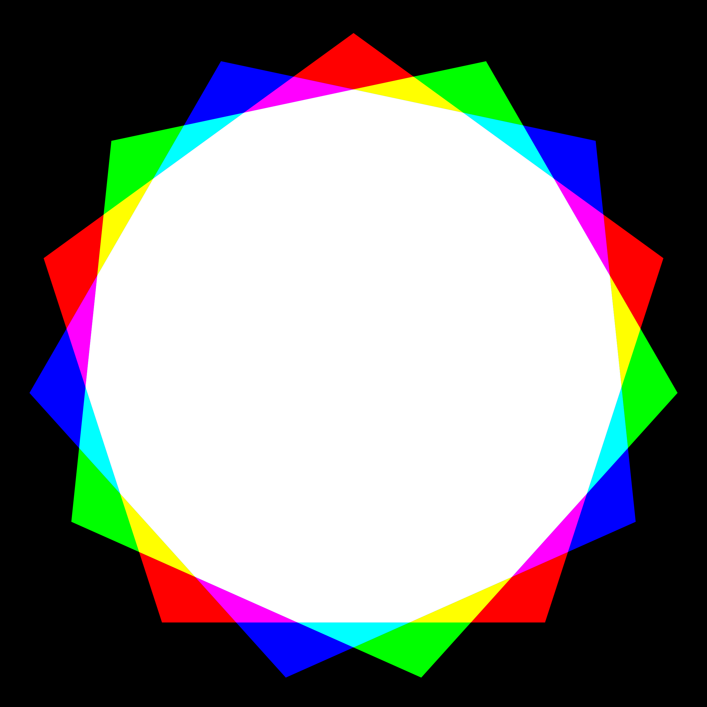 pentadecagon rgb mix by 10binary