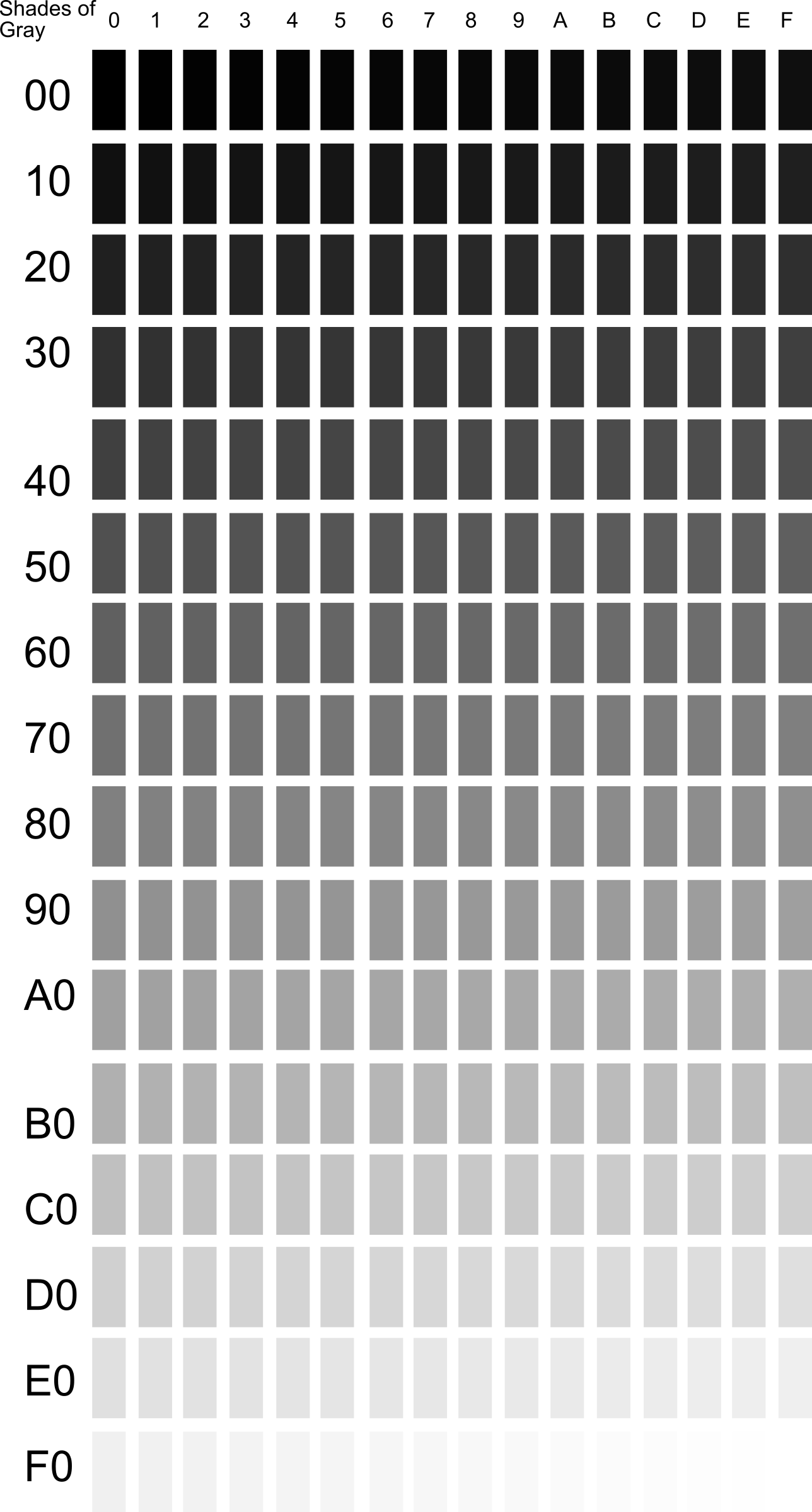 Gray Shades clipart - shades of gray