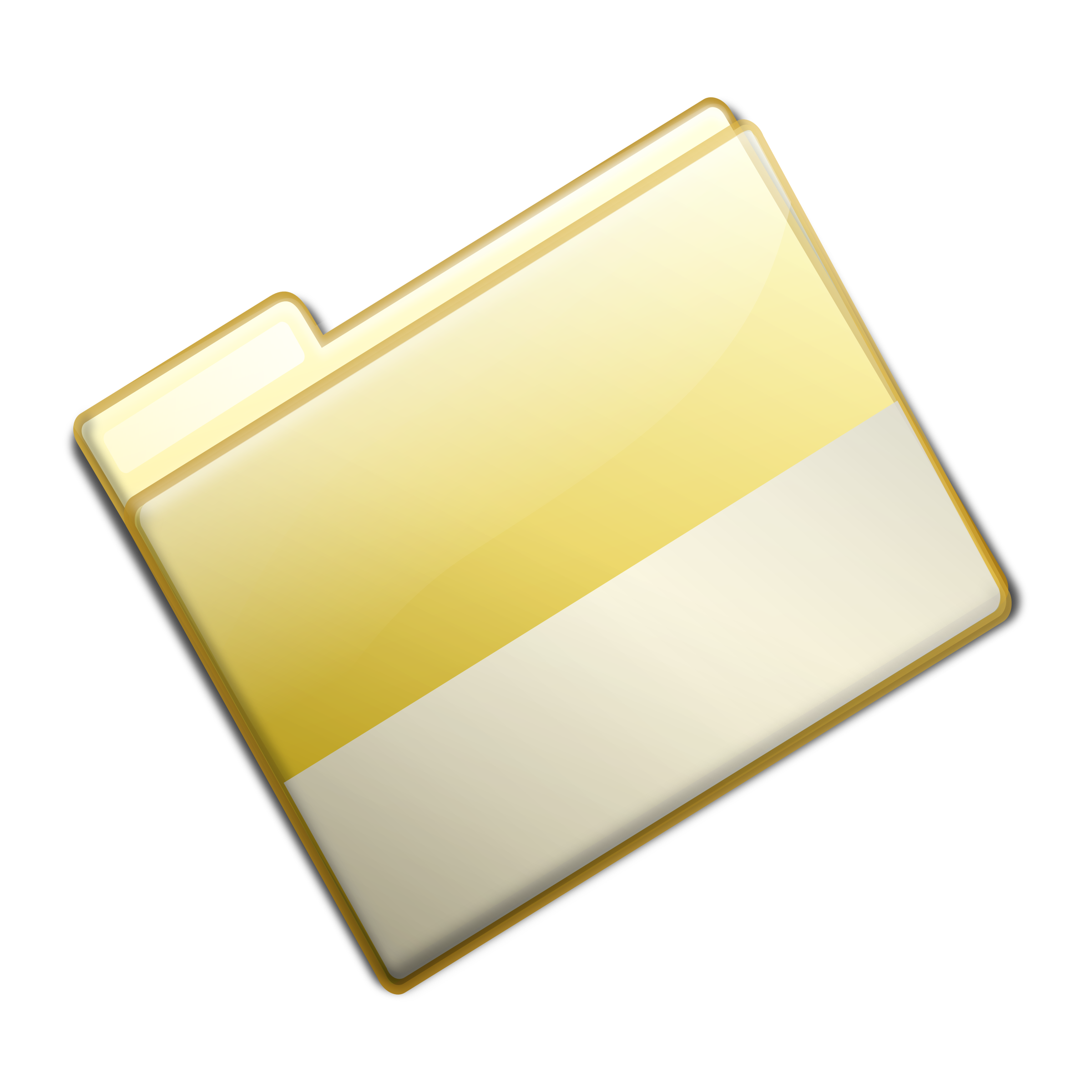 Closed Simple Yellow Folder by sarxos