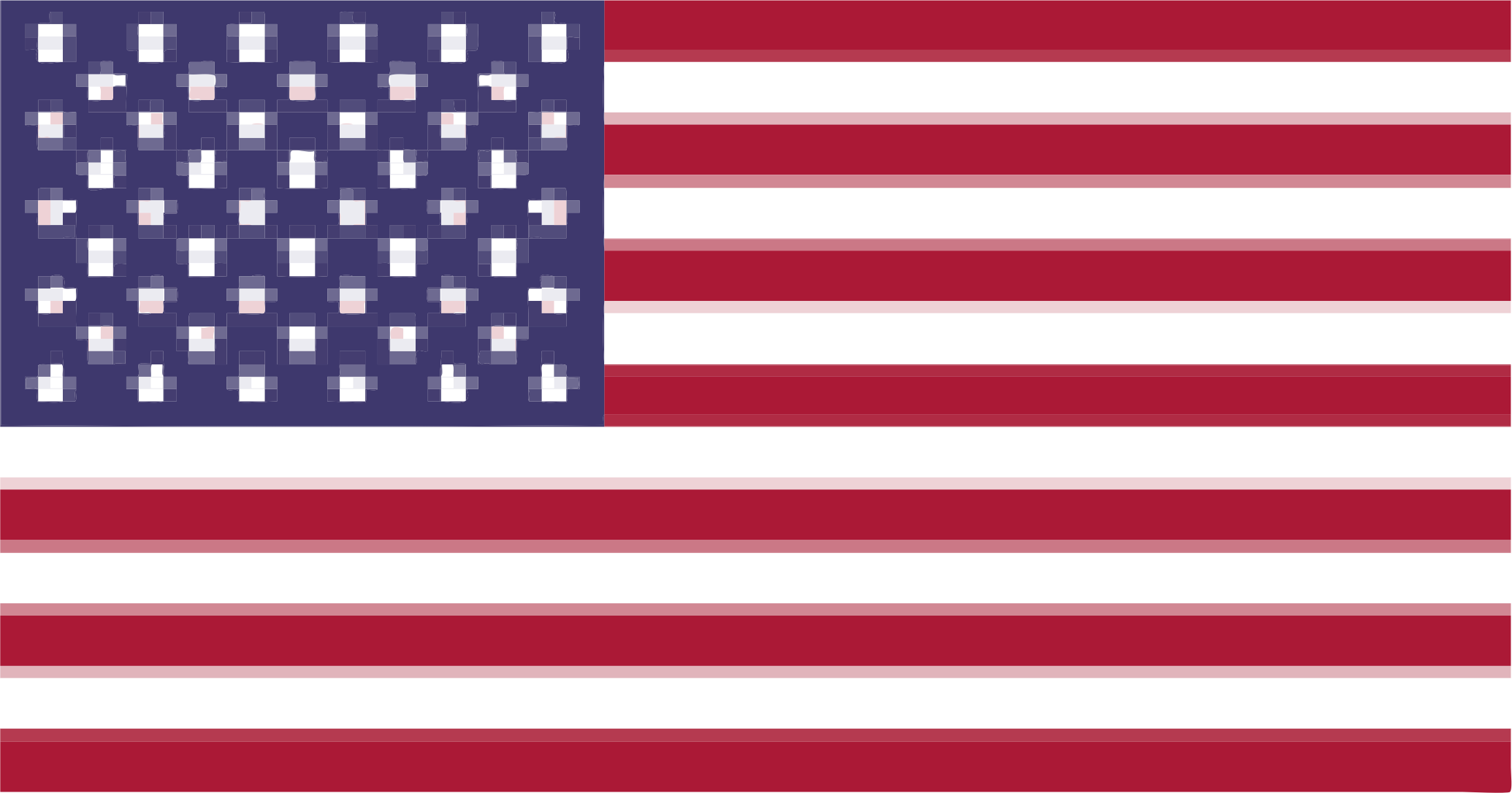 Pixelated Flag by jgm104