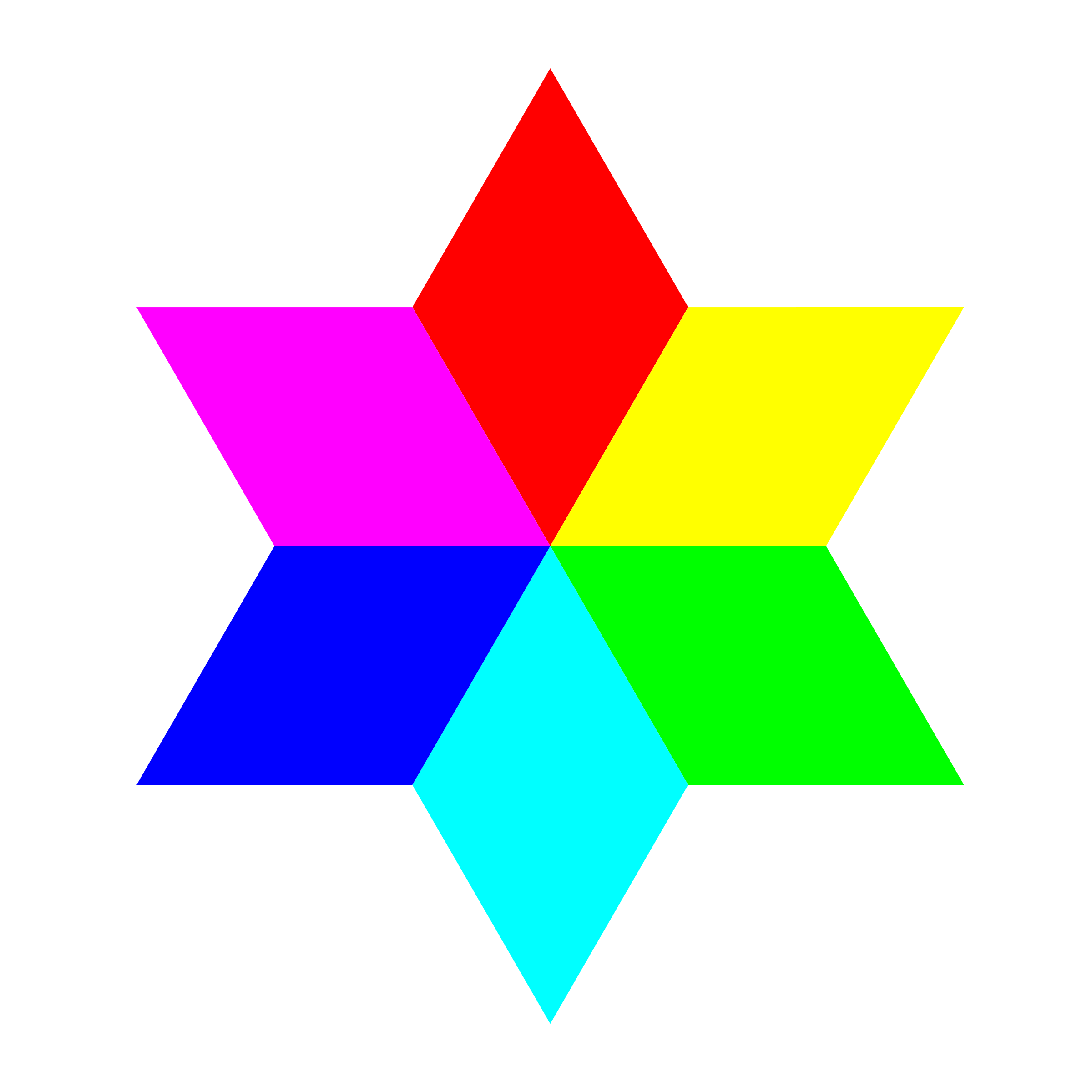 6 color diamond hexagram by 10binary