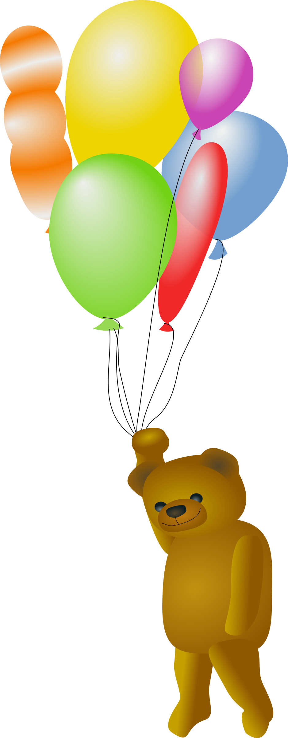 Teddy Bear with Balloons by OlKu