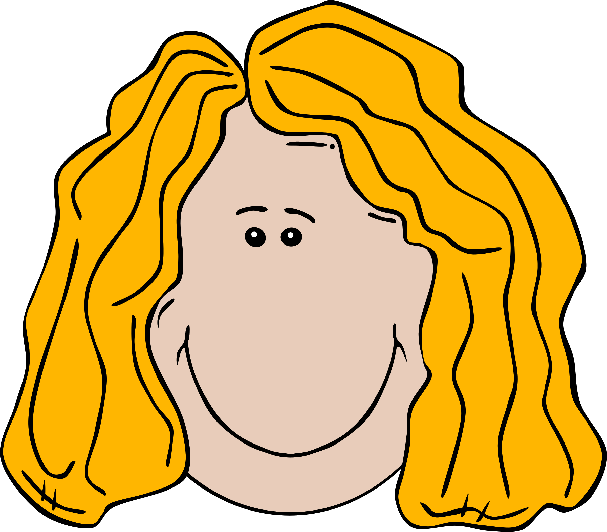 Lady Face Cartoon by Gerald_G