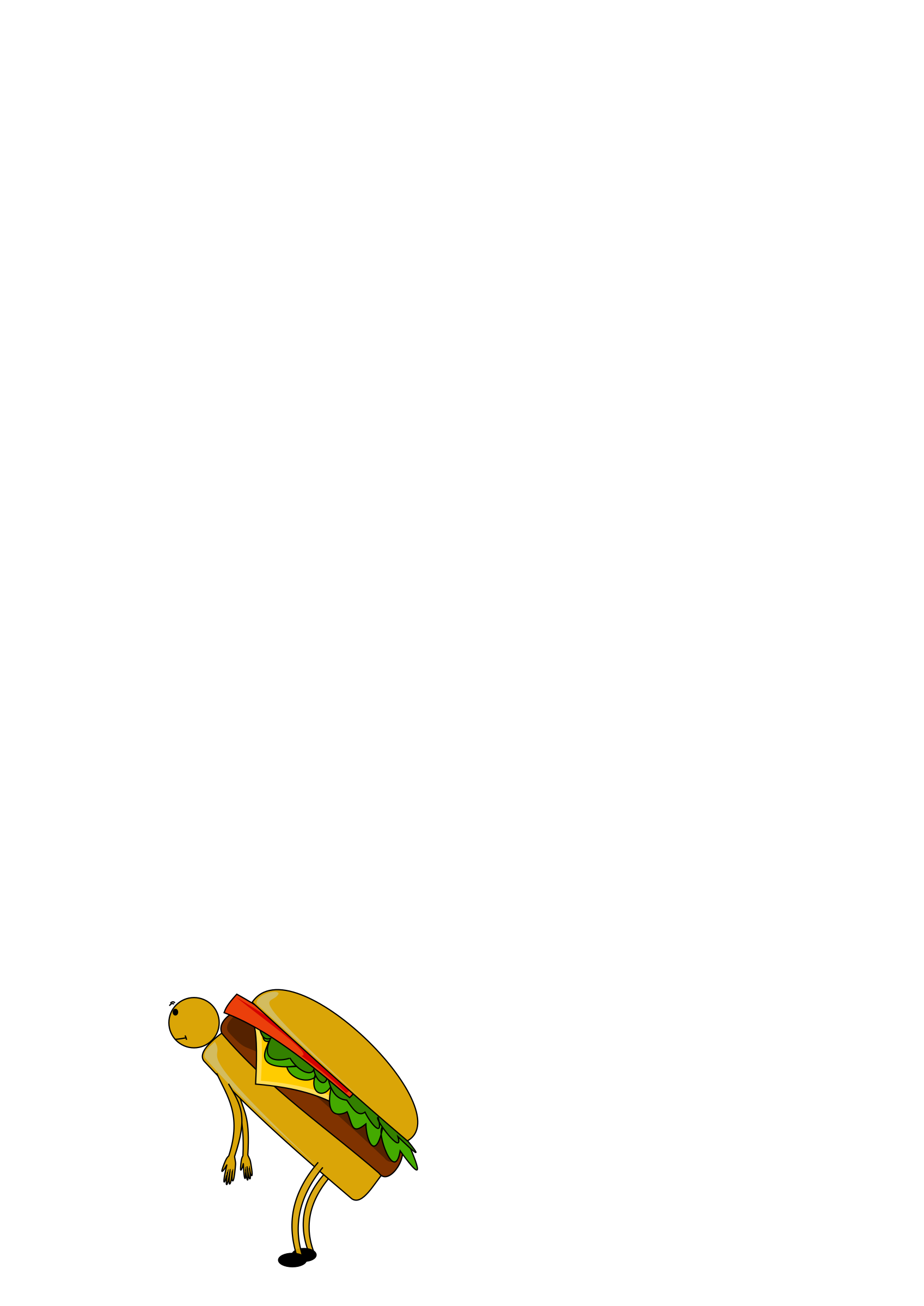 cartoon burger by ploki
