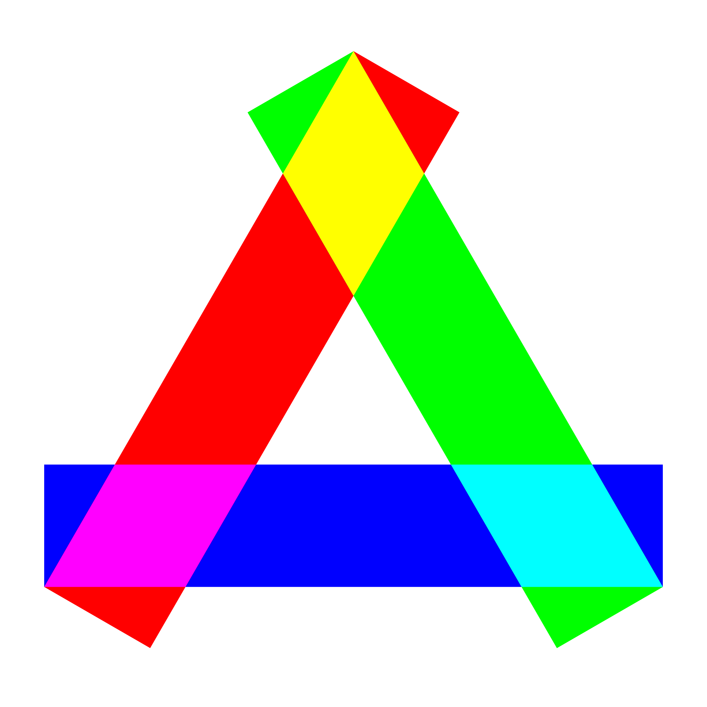 rgb long rectangles triangle by 10binary