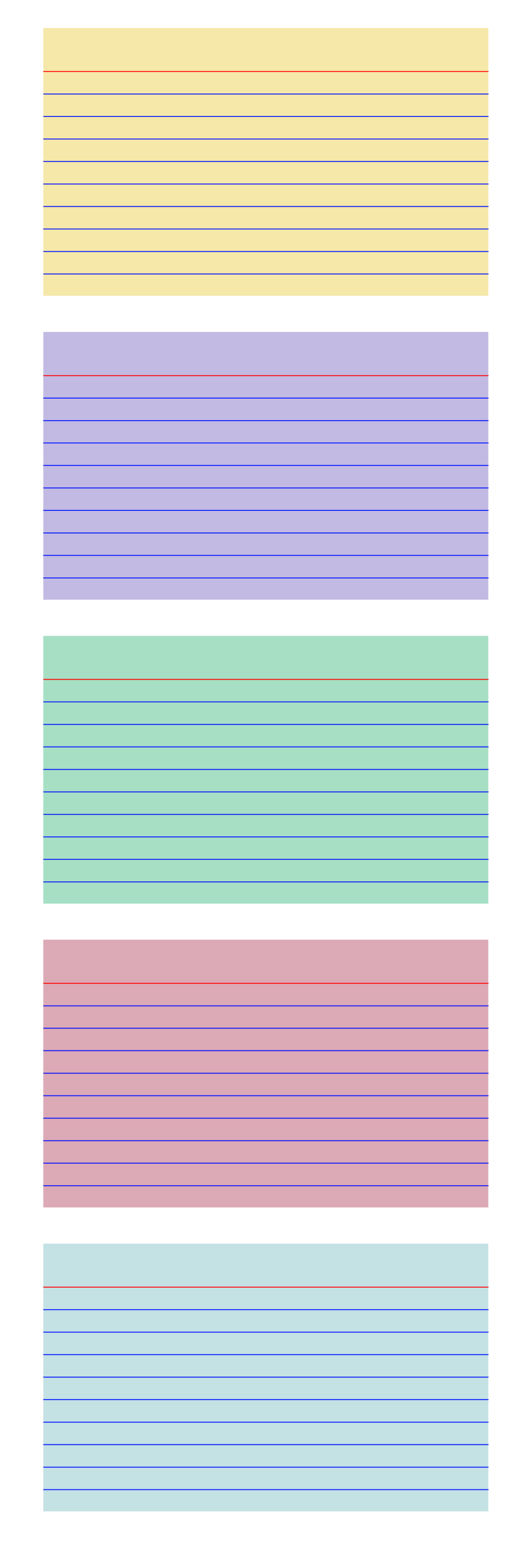 Colored index cards by snifty