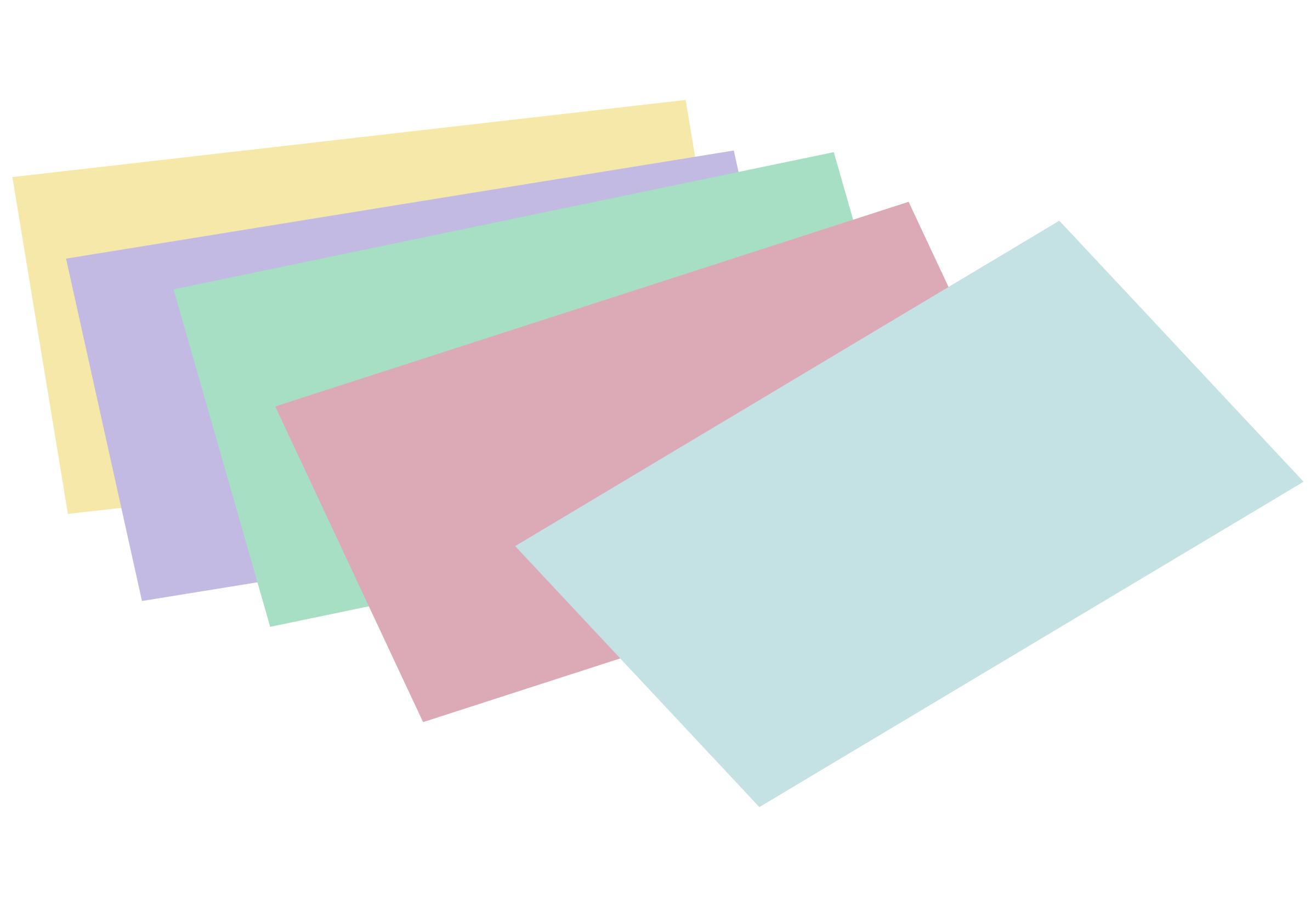 Stack of unlined colored index cards by snifty