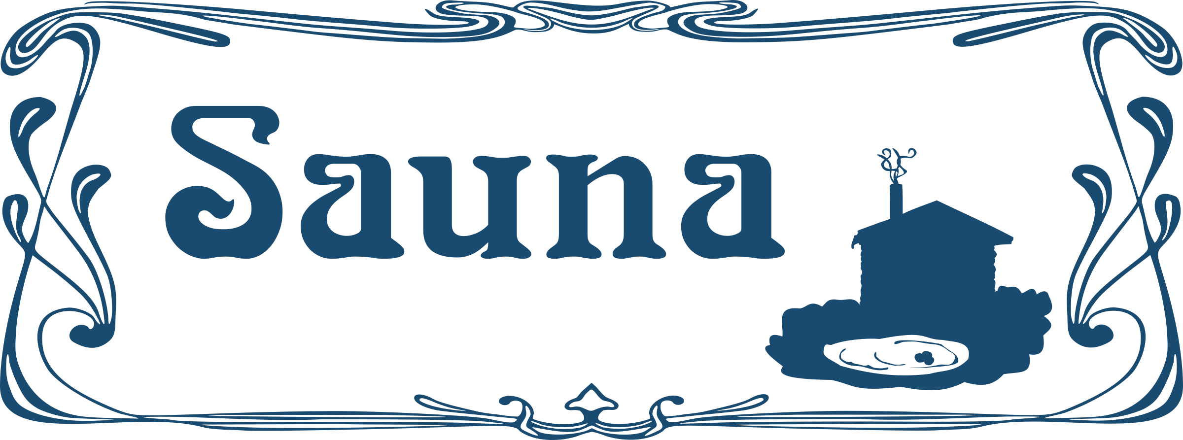 Sauna Sign by Moini