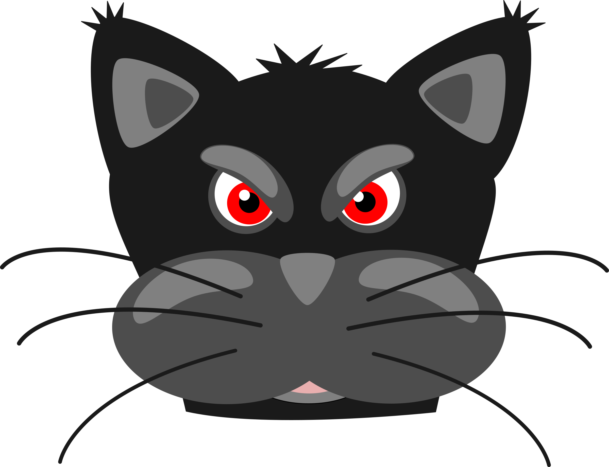 clipart angry black panther rh openclipart org Transparent Lynx Panthers Logo Transparent