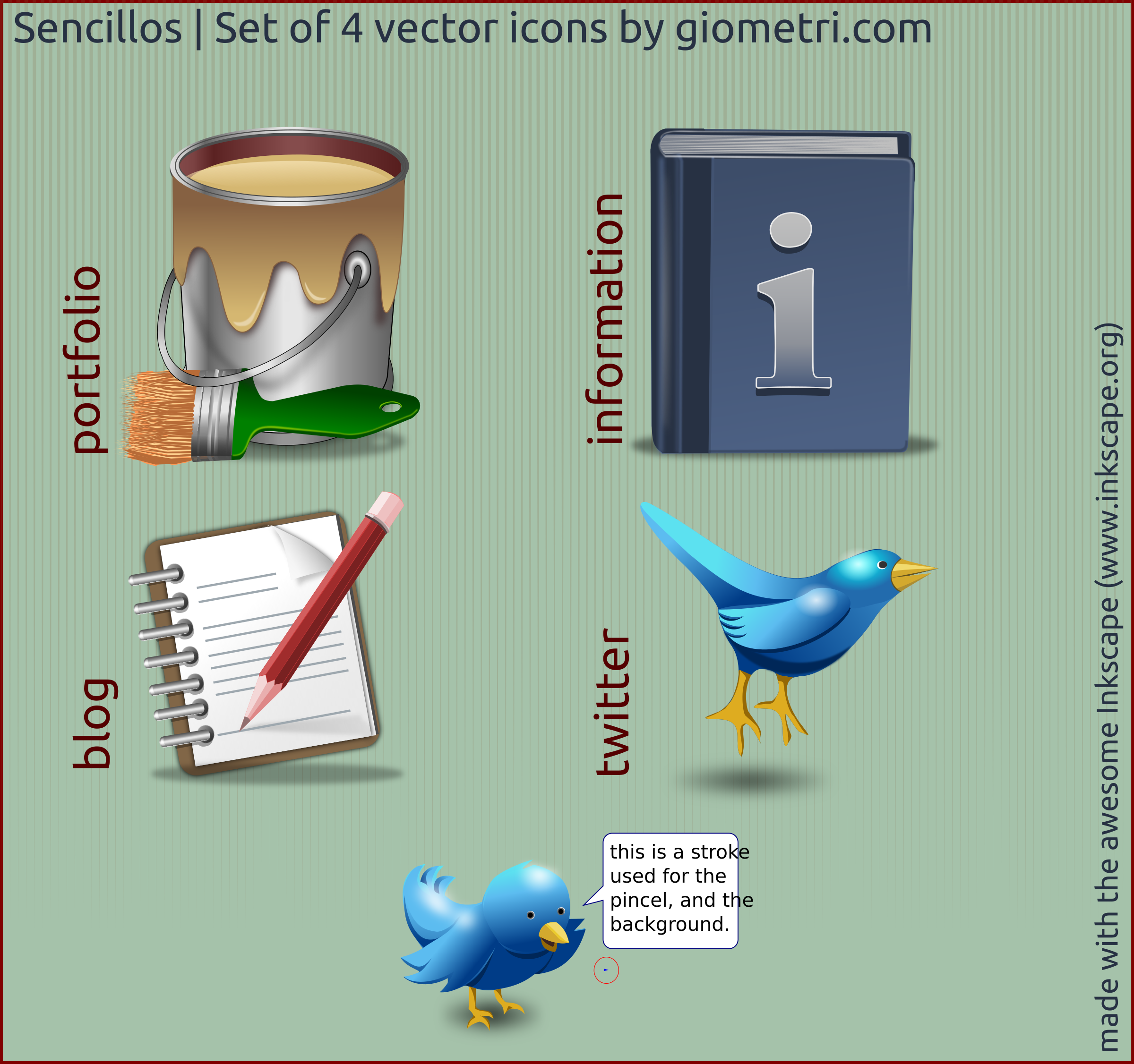 Sencillo 4 vector icons by giova
