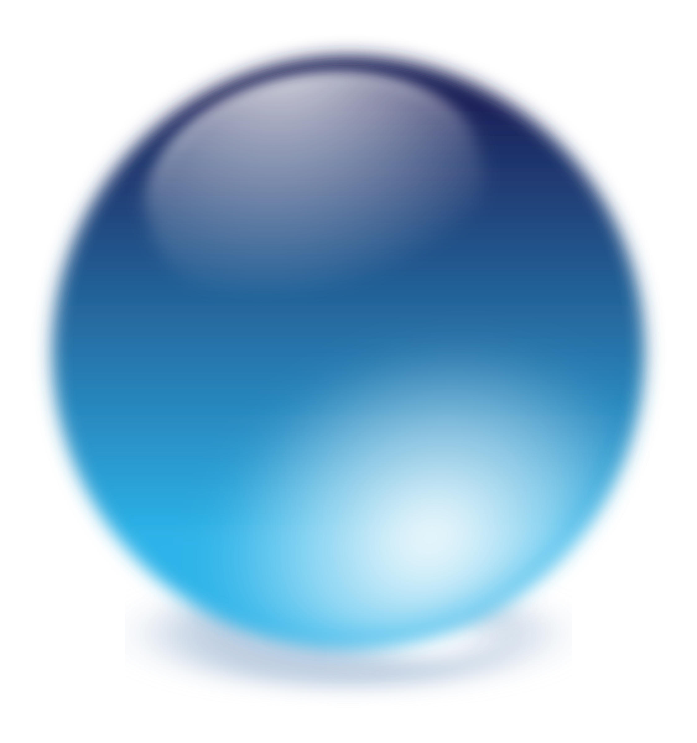 blue cristal ball by molumen