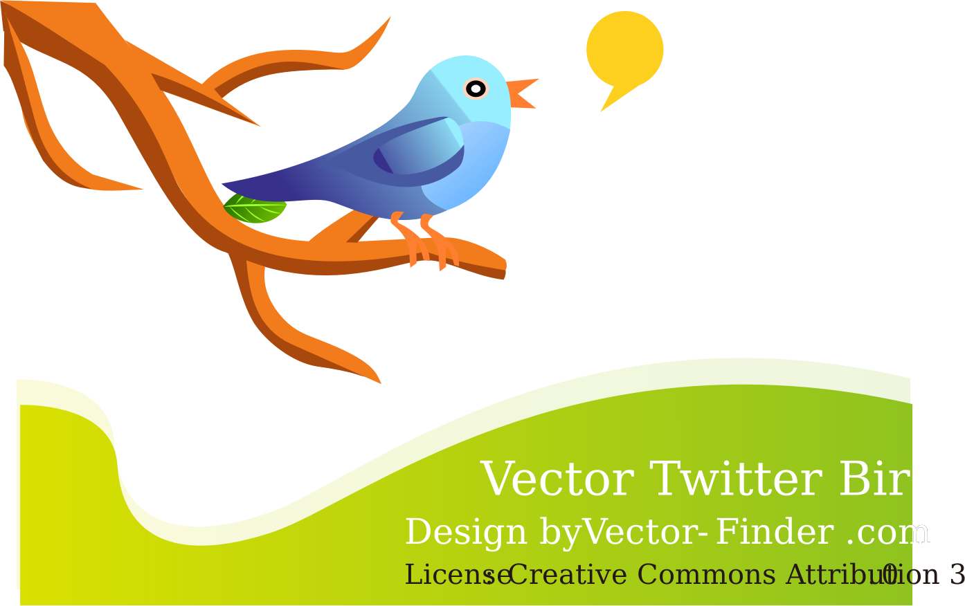 Clipart - Free Vector Tweeting Bird