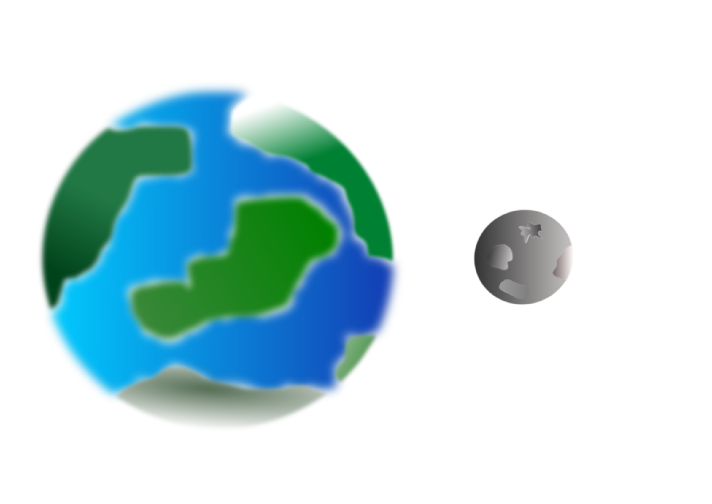 Planet with moon by cprostire