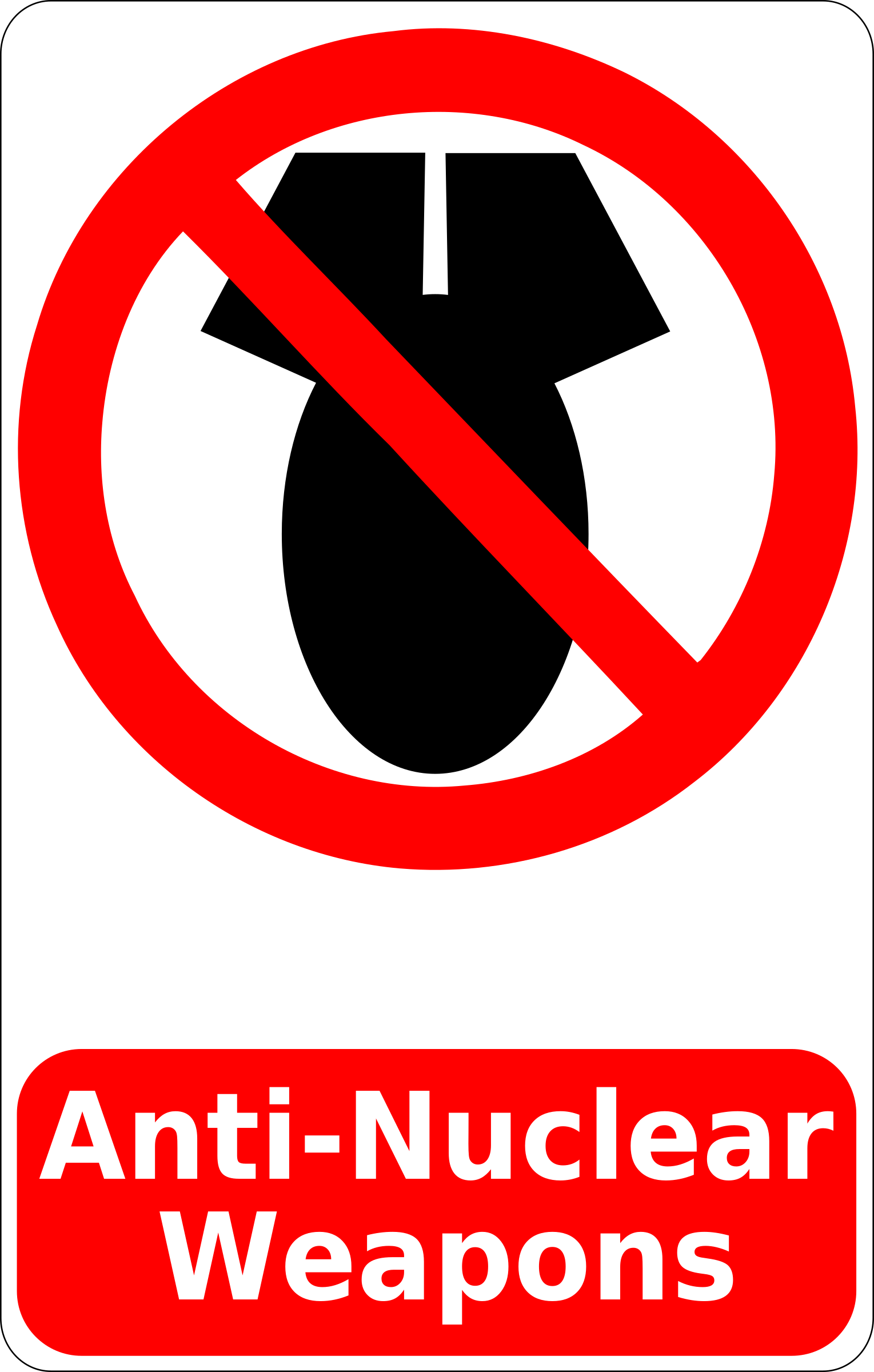Anti-Nuclear Weapons Sign by cibo00